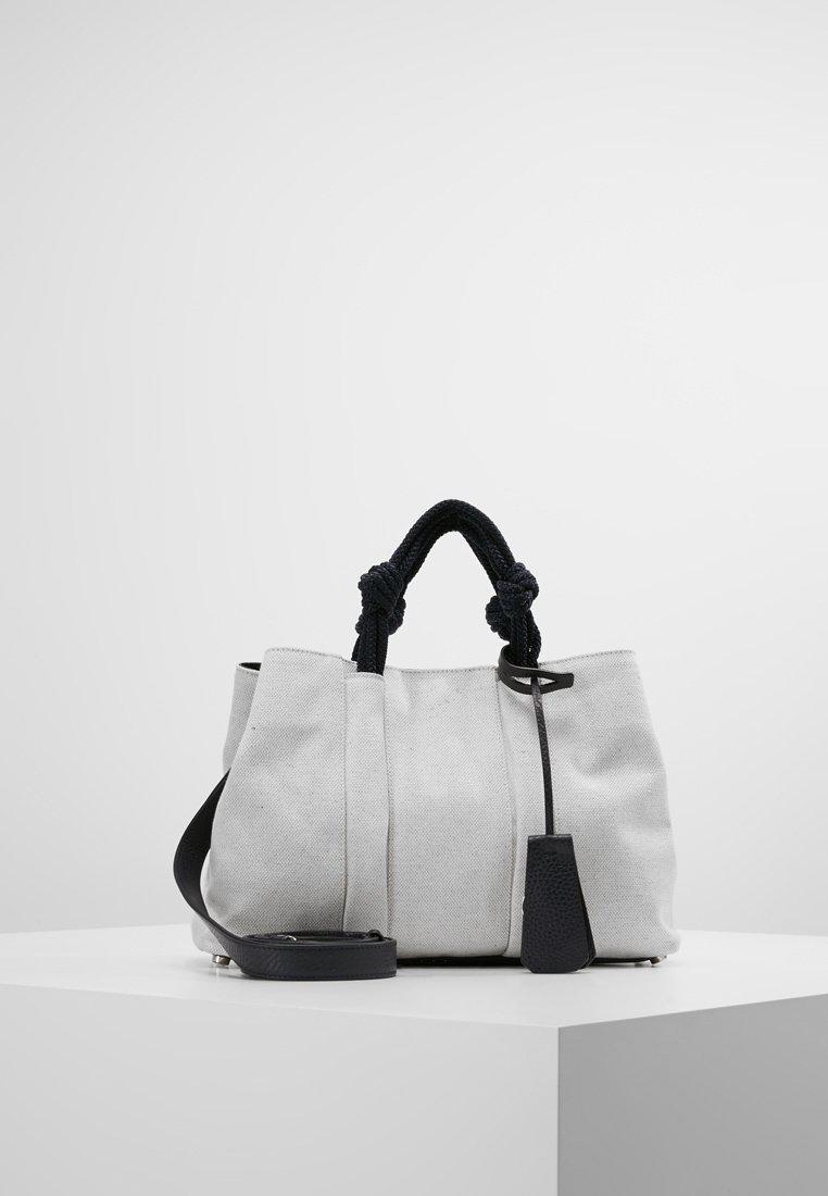 Jil Sander Navy SLOUCHY SHOPPER - Shopping Bag - white CQWwA