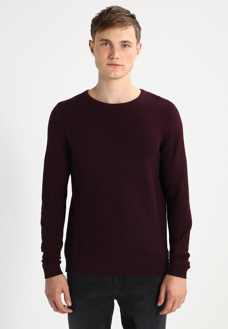 Mens Herringbone Crew Long Sleeve Top Burton Menswear London Discount 2018 Cheap Sale Excellent u5mhCkhytD