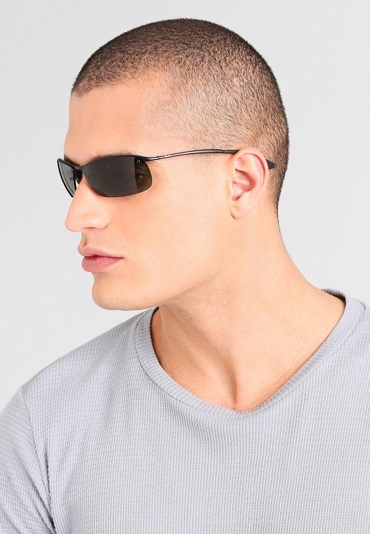 Charmant Ray Ban. Menu0027s Black Top Bar Sunglasses