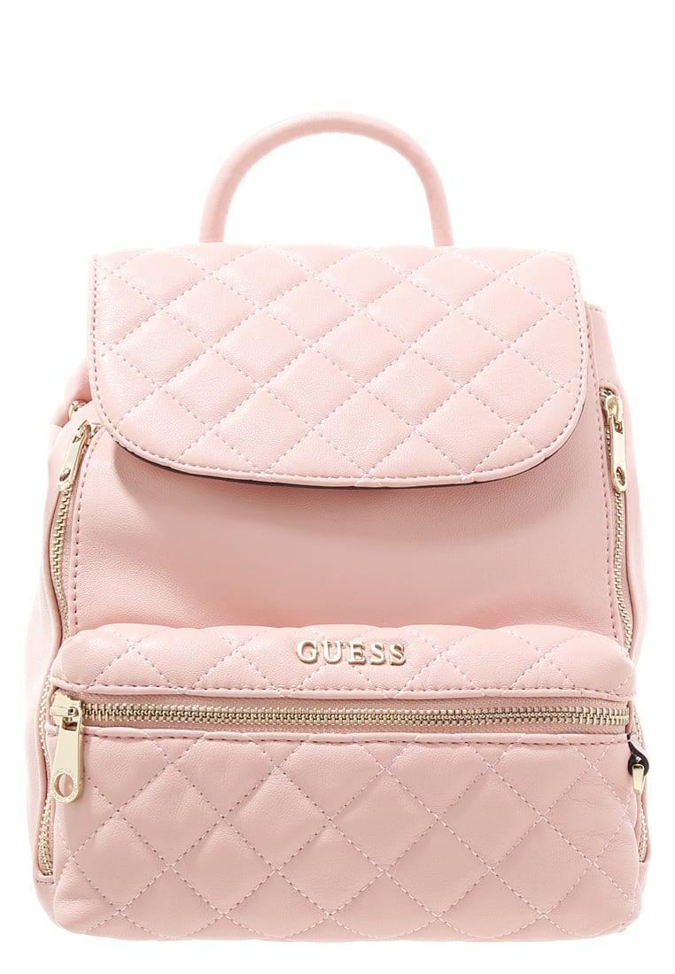 Lyst Guess Alanis Medium Quilted Backpack In Pink