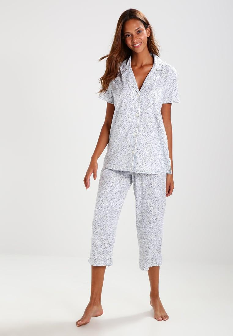 lauren by ralph lauren notch pyjama set in blue lyst. Black Bedroom Furniture Sets. Home Design Ideas