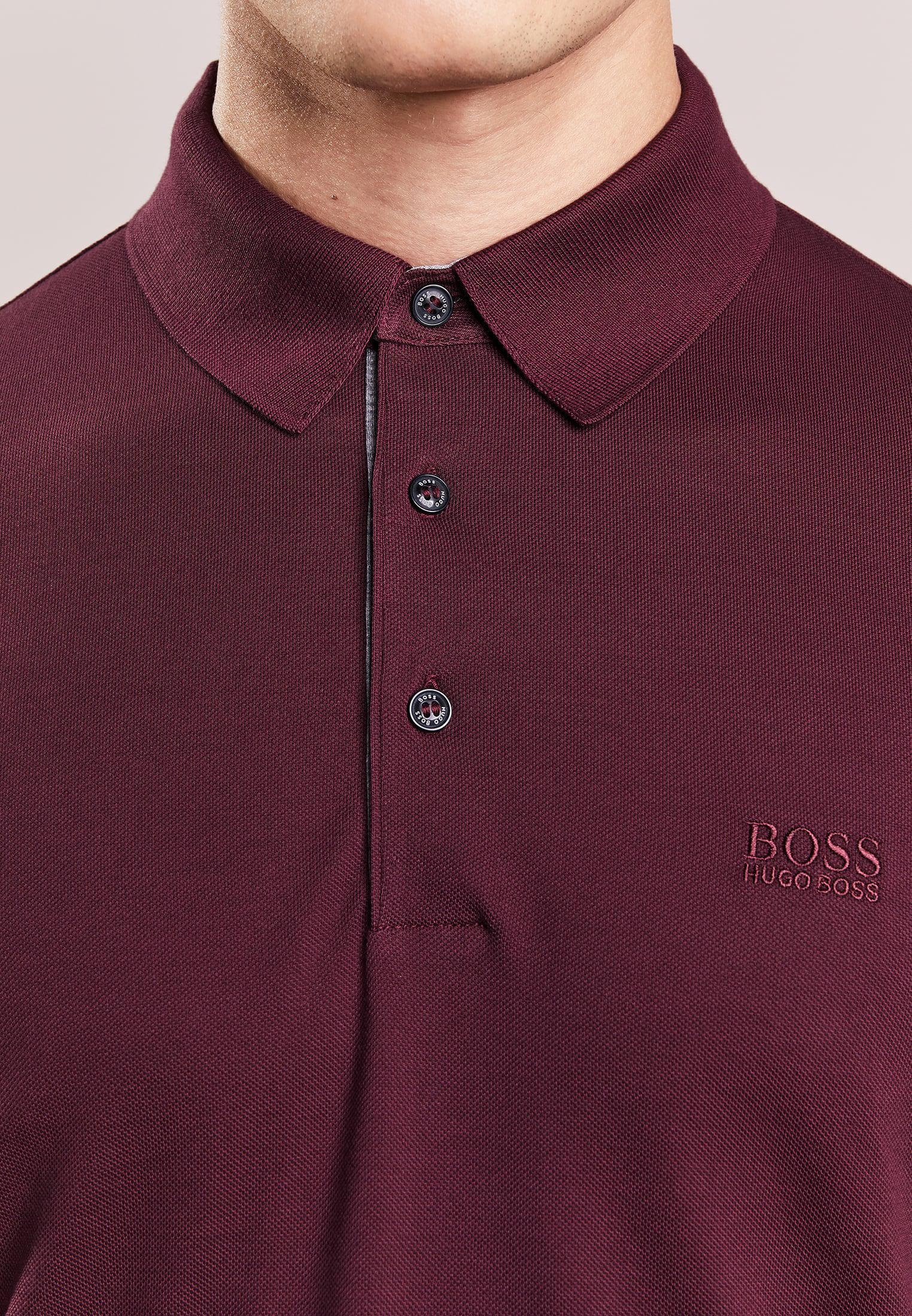 c4e81f5eead Lyst - Boss green Paderna Polo Shirt in Purple for Men