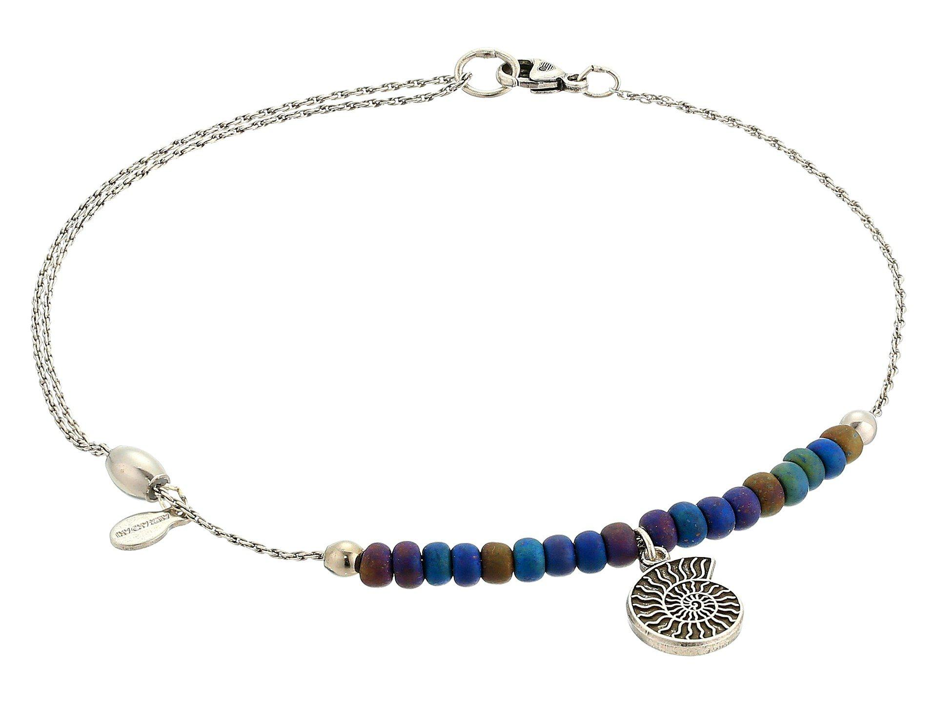 3e8f153362f1 ALEX AND ANI Nautilus Anklet in Blue - Lyst