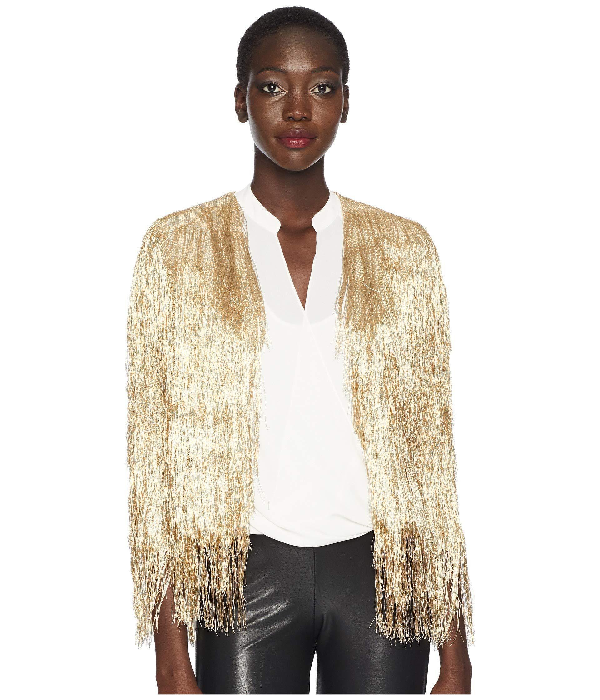 5e5ee4cc79 Lyst - Rachel Zoe Isla Knit Jacket (light Gold) Women s Jacket in ...