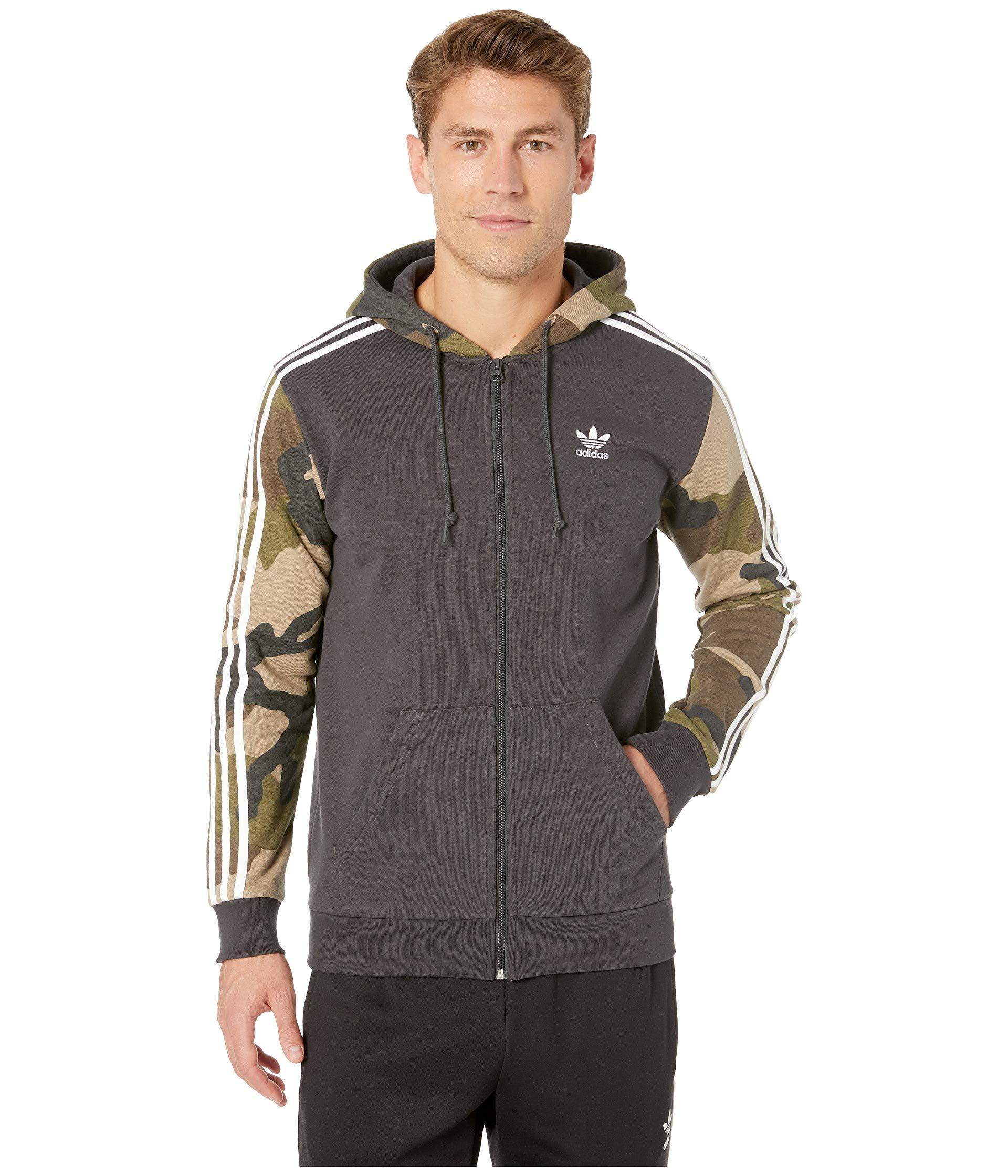 22ad8fd83cbf adidas Originals. Camo Full-zip Hoodie (utility Black) Men s Sweatshirt