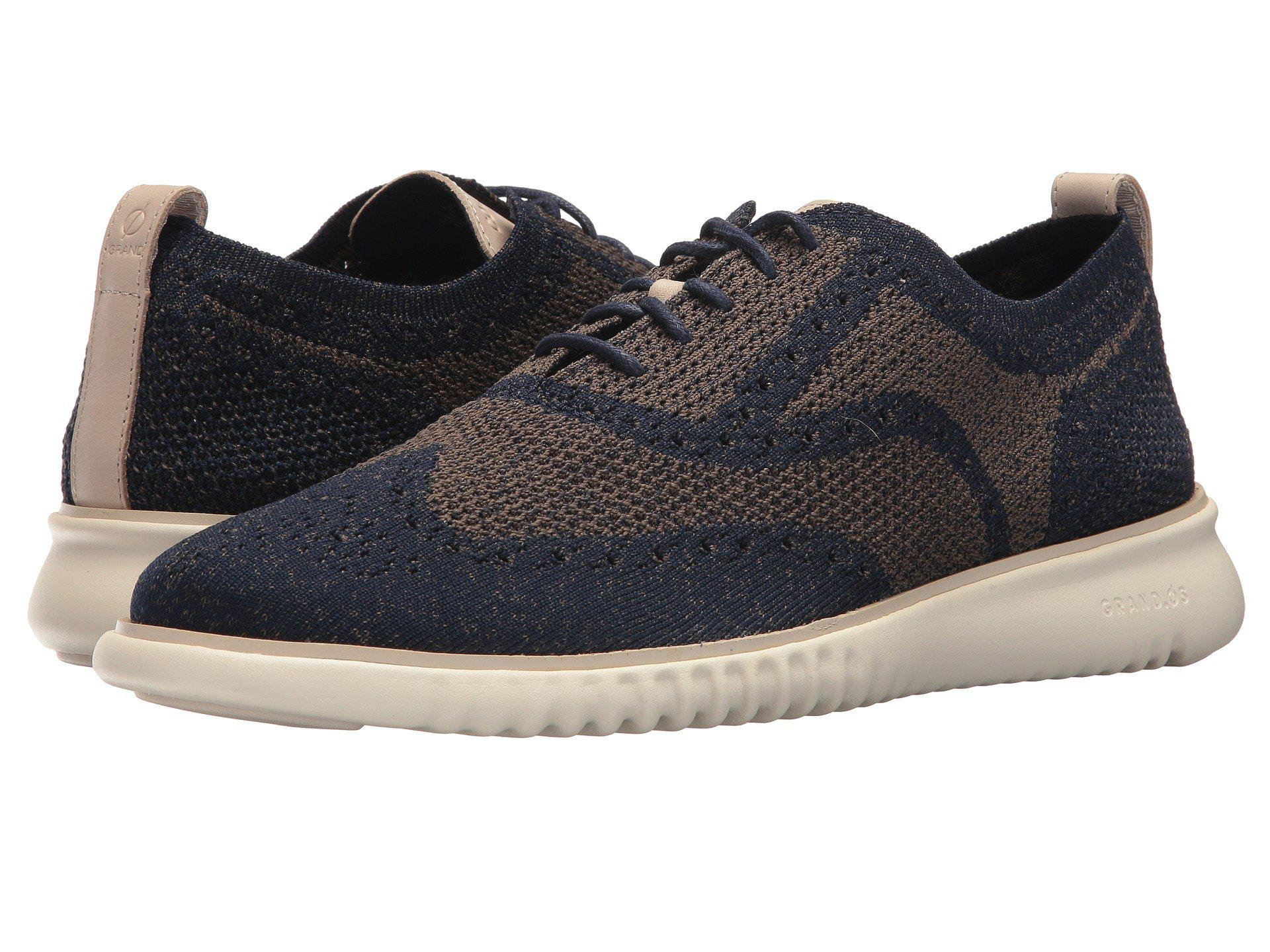 66cf70f21aaa9 Cole Haan 2.zerogrand Stitchlite Oxford (navy Peony/morel) Shoes in ...
