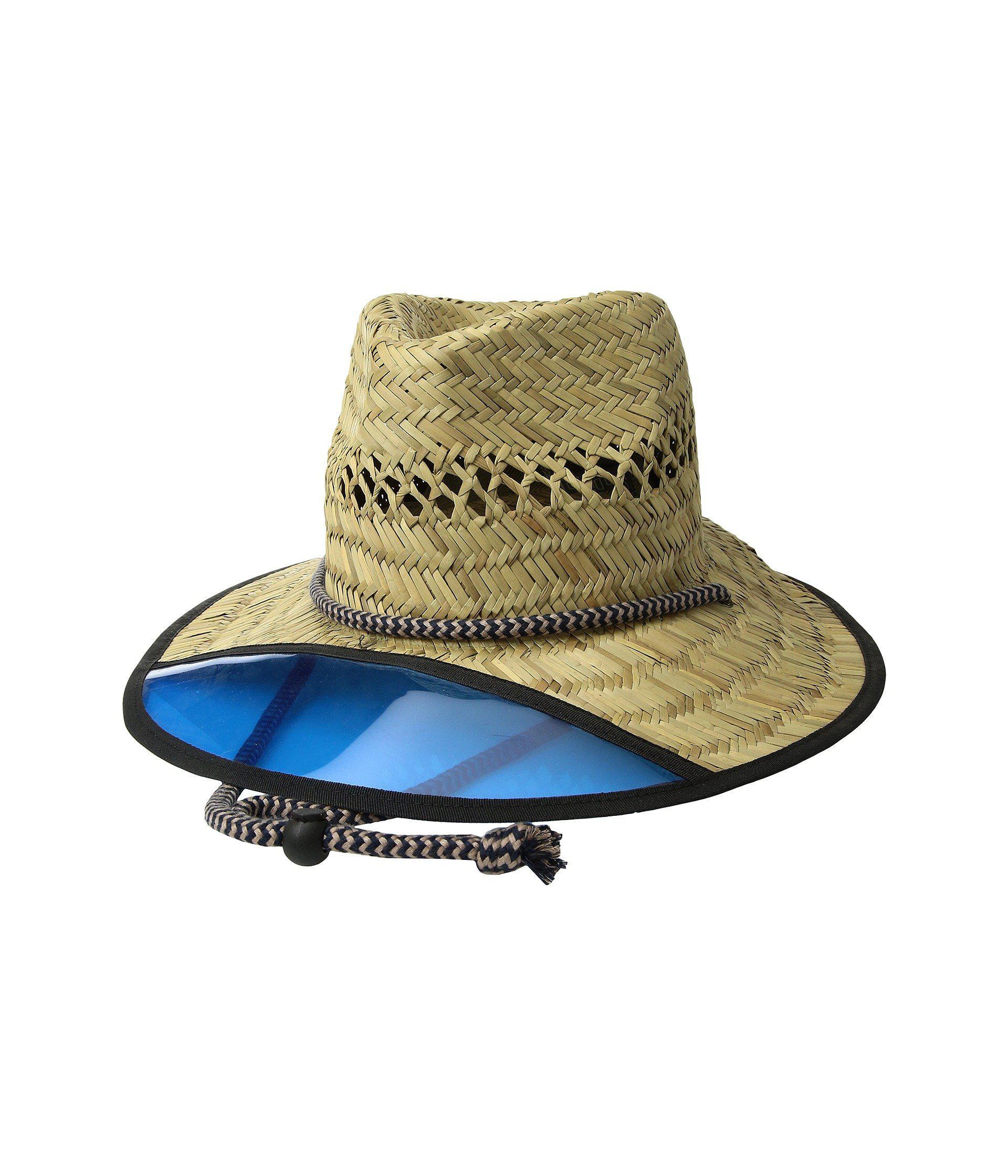 0cb15d25f36c8 Lyst - San Diego Hat Company Lifeguard W  Plastic Visor (natural ...