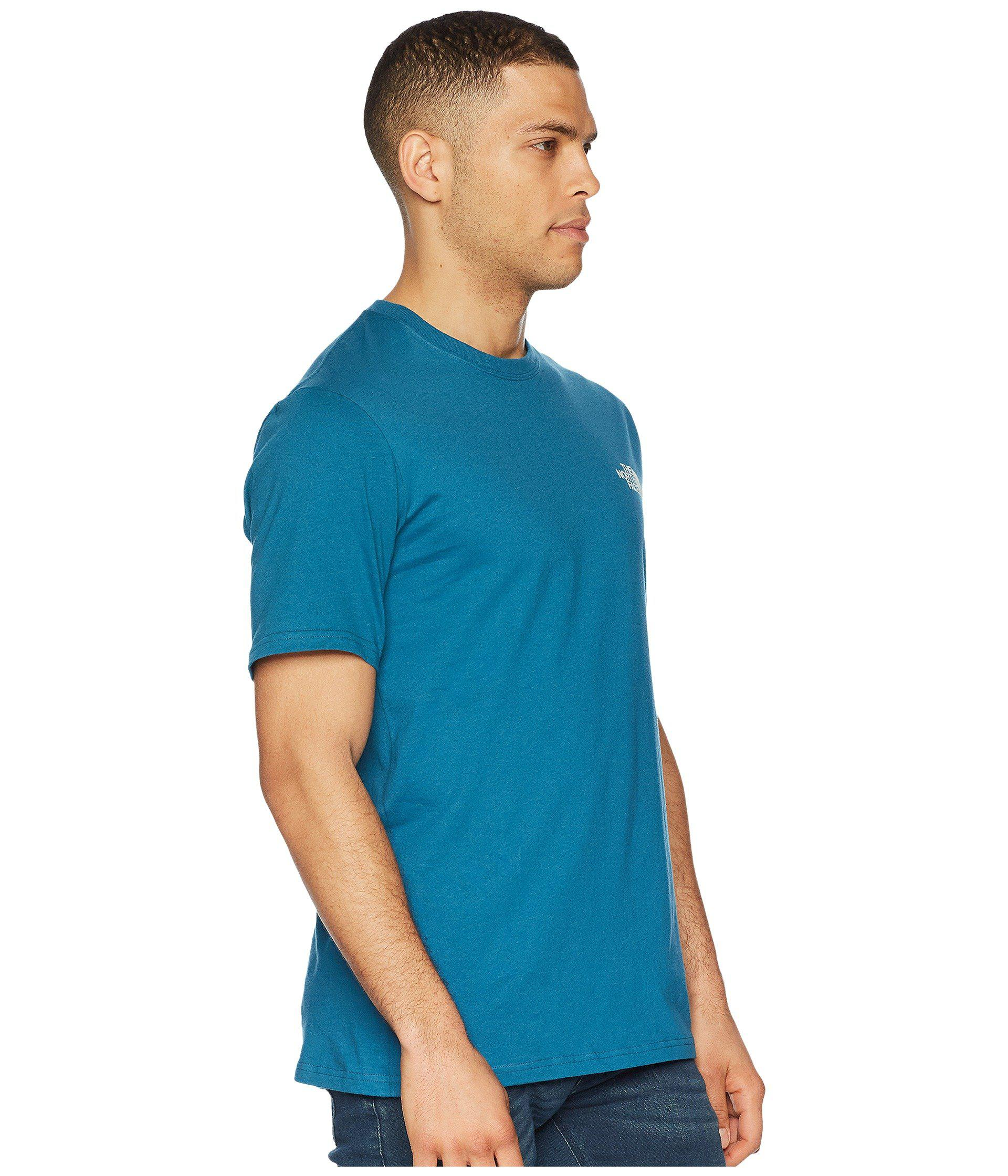 64b624eee Short Sleeve Red Box Tee (shady Blue/tnf White) Men's T Shirt