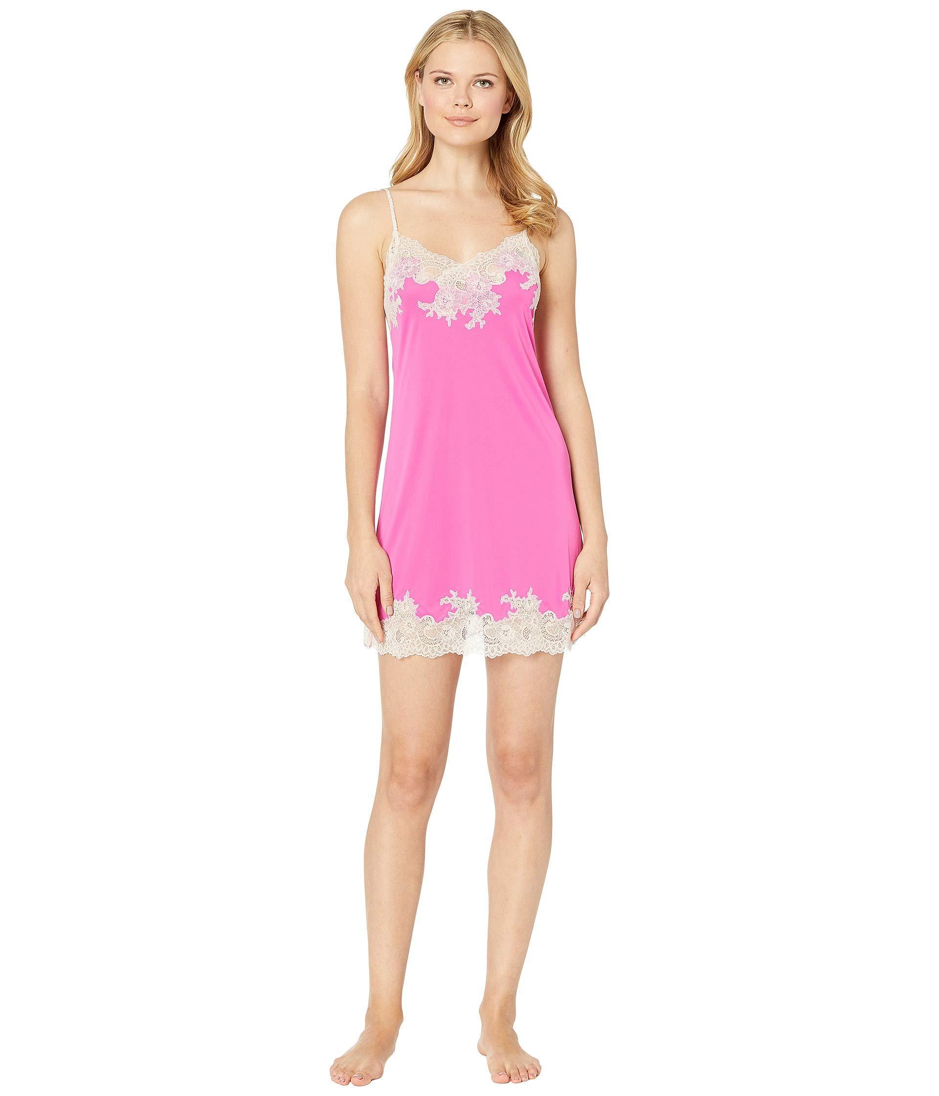 Lyst - Natori Enchant Lace Trim Chemise (vivid Pink) Women s Pajama ... 297046510