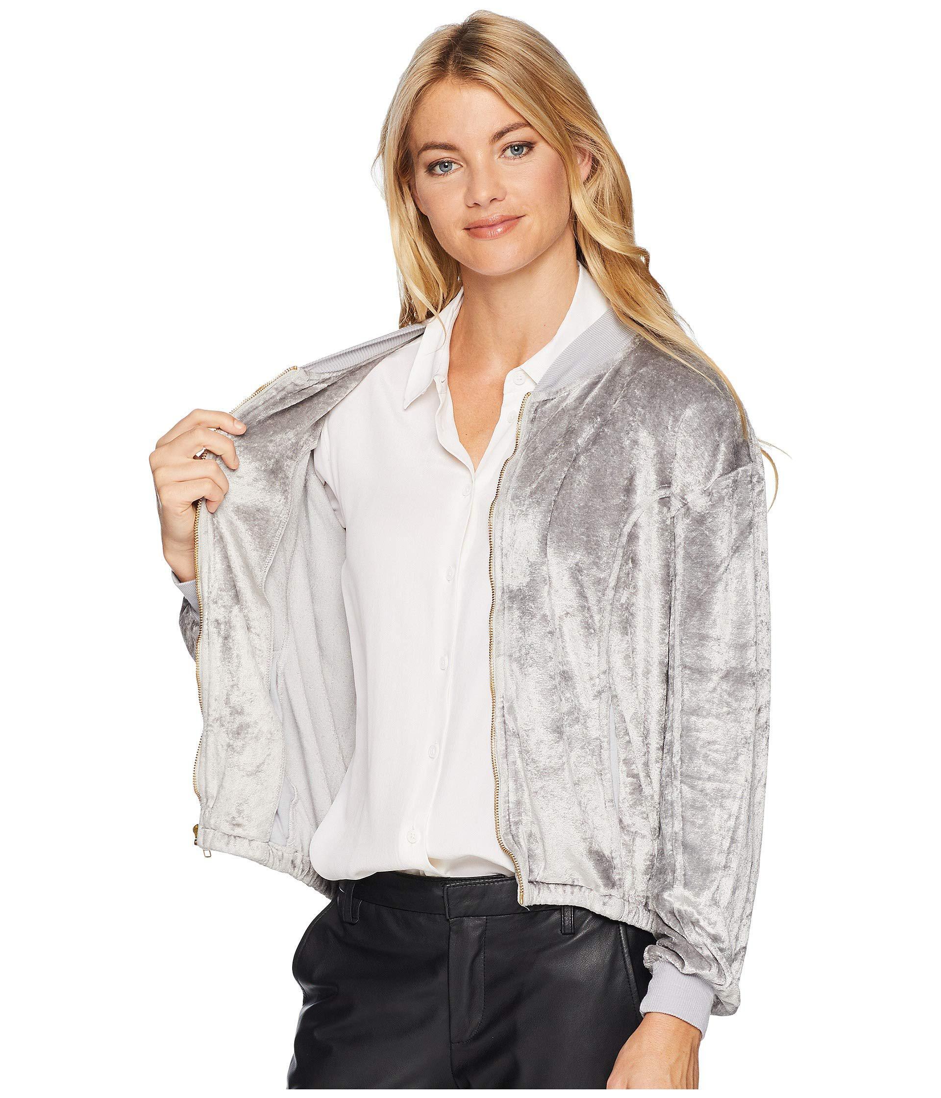92d015563563 Michael Stars Womens Vali Velvet Bomber Jacket Women