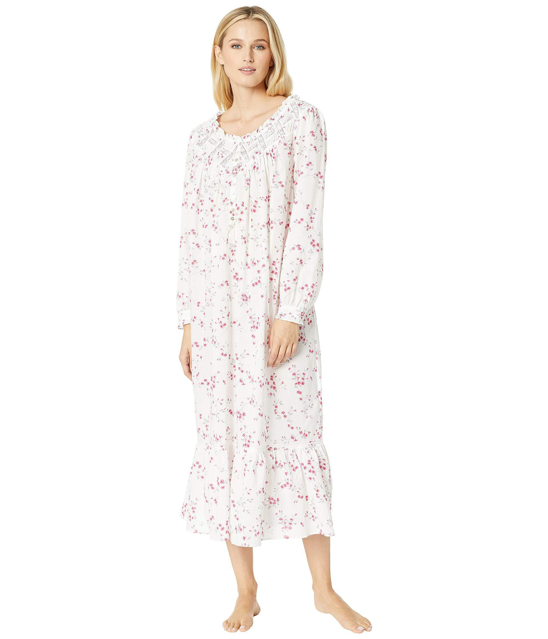 3414bc28f5 Eileen West. Ballet Woven Floral Nightgown (white Ground Multi Floral) Women s  Pajama