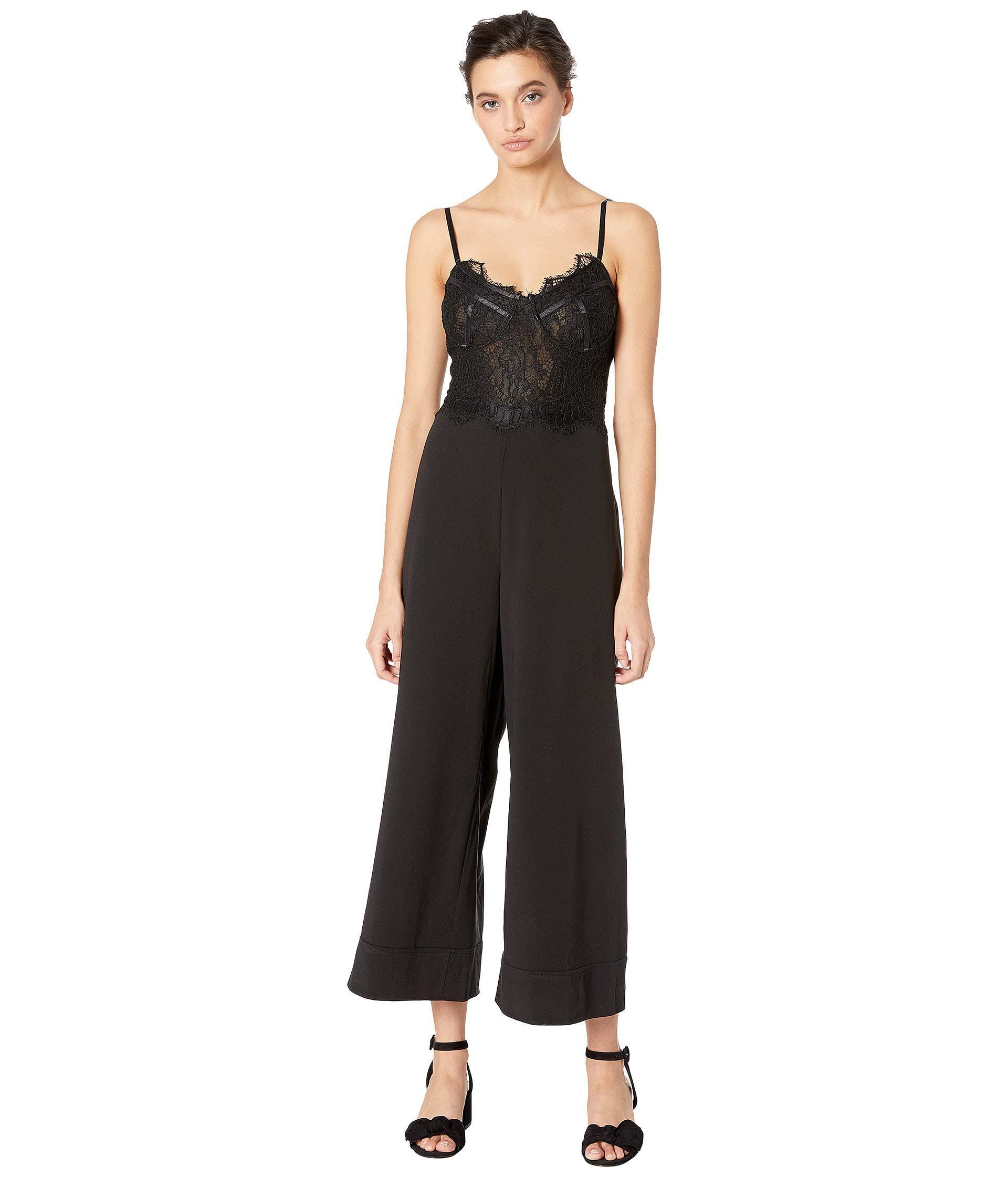 Bardot Lace Brittney Jumpsuit (black) Women's Jumpsuit ...