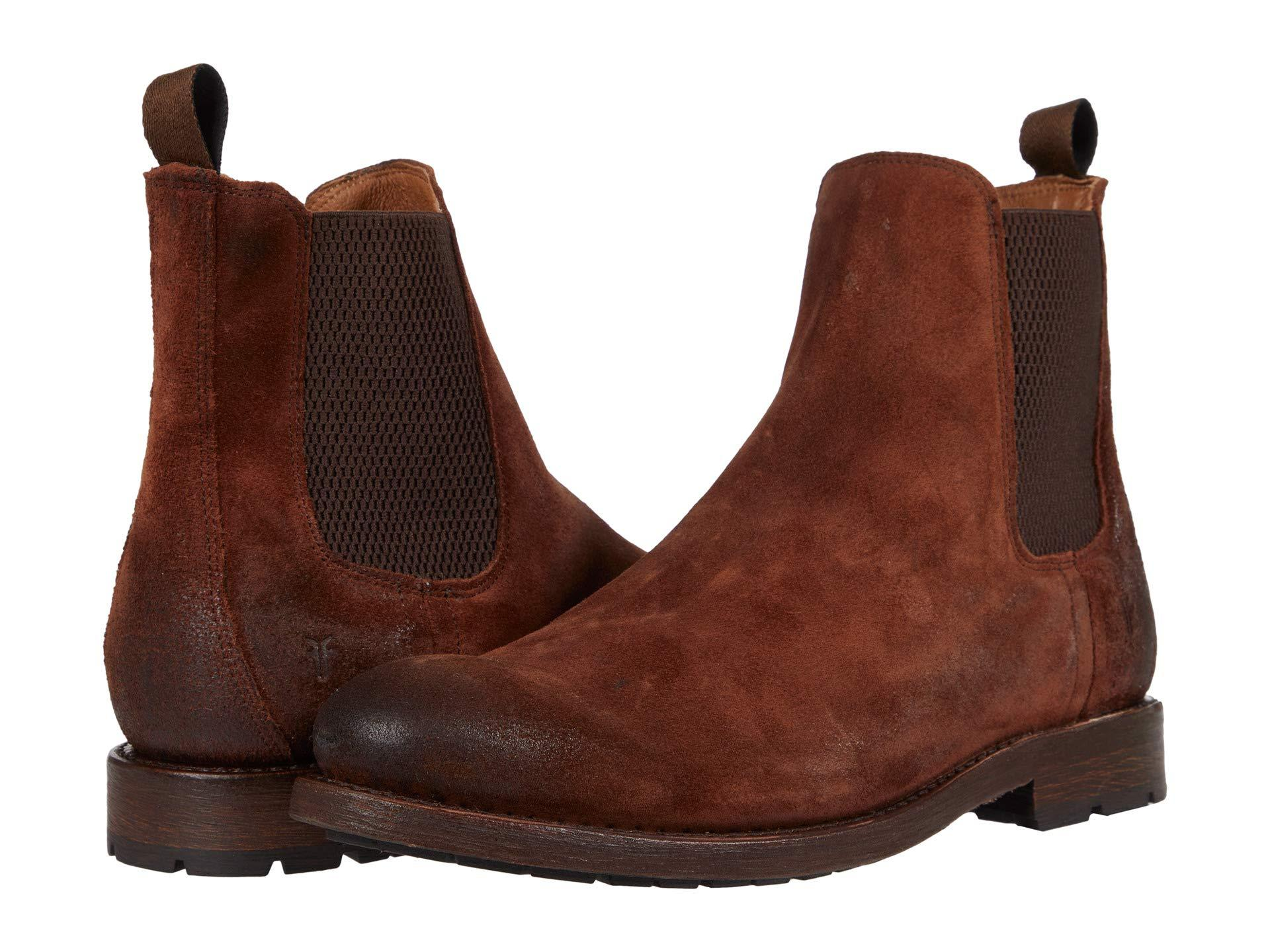 Frye Leather Bowery Chelsea in Brown