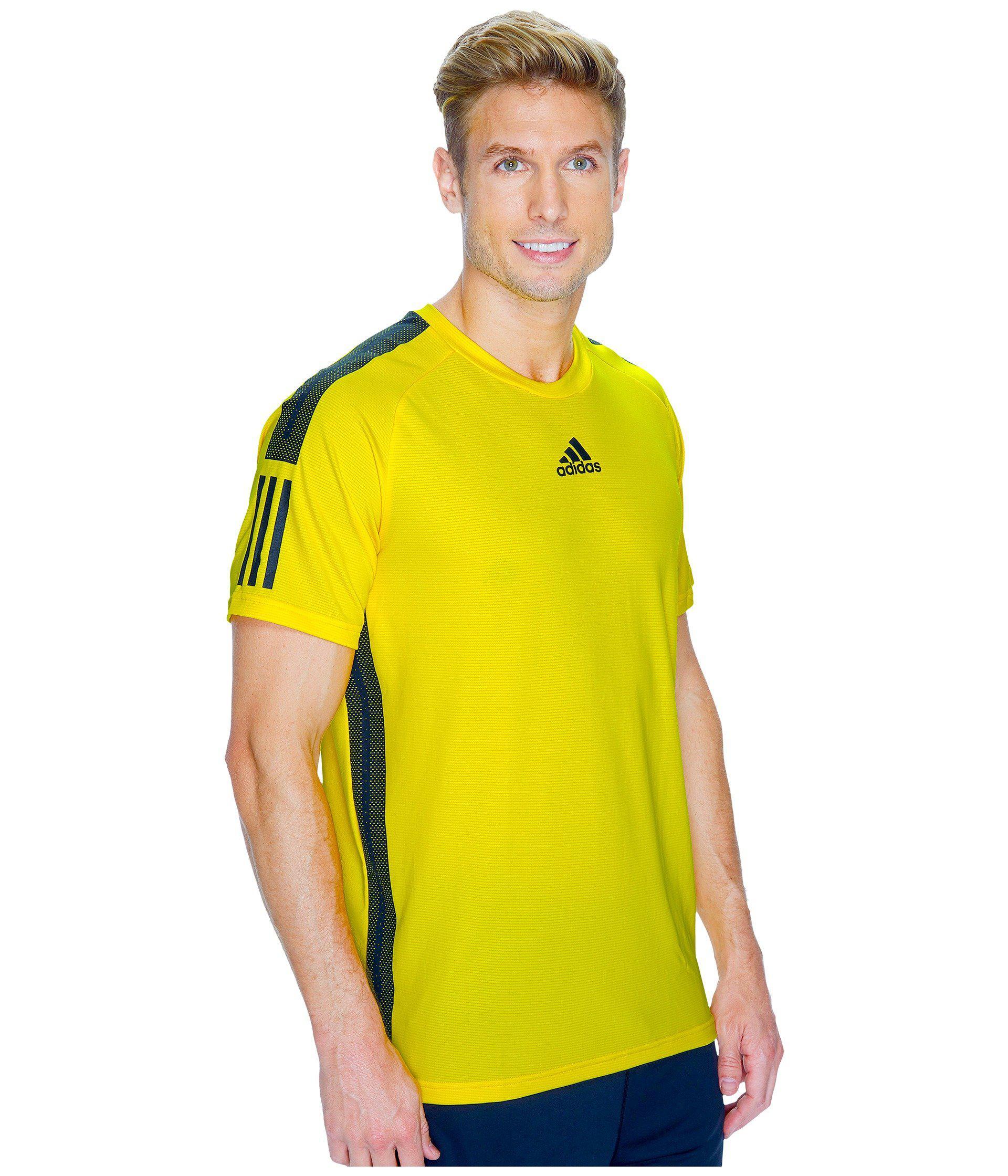 adidas shirt yellow black