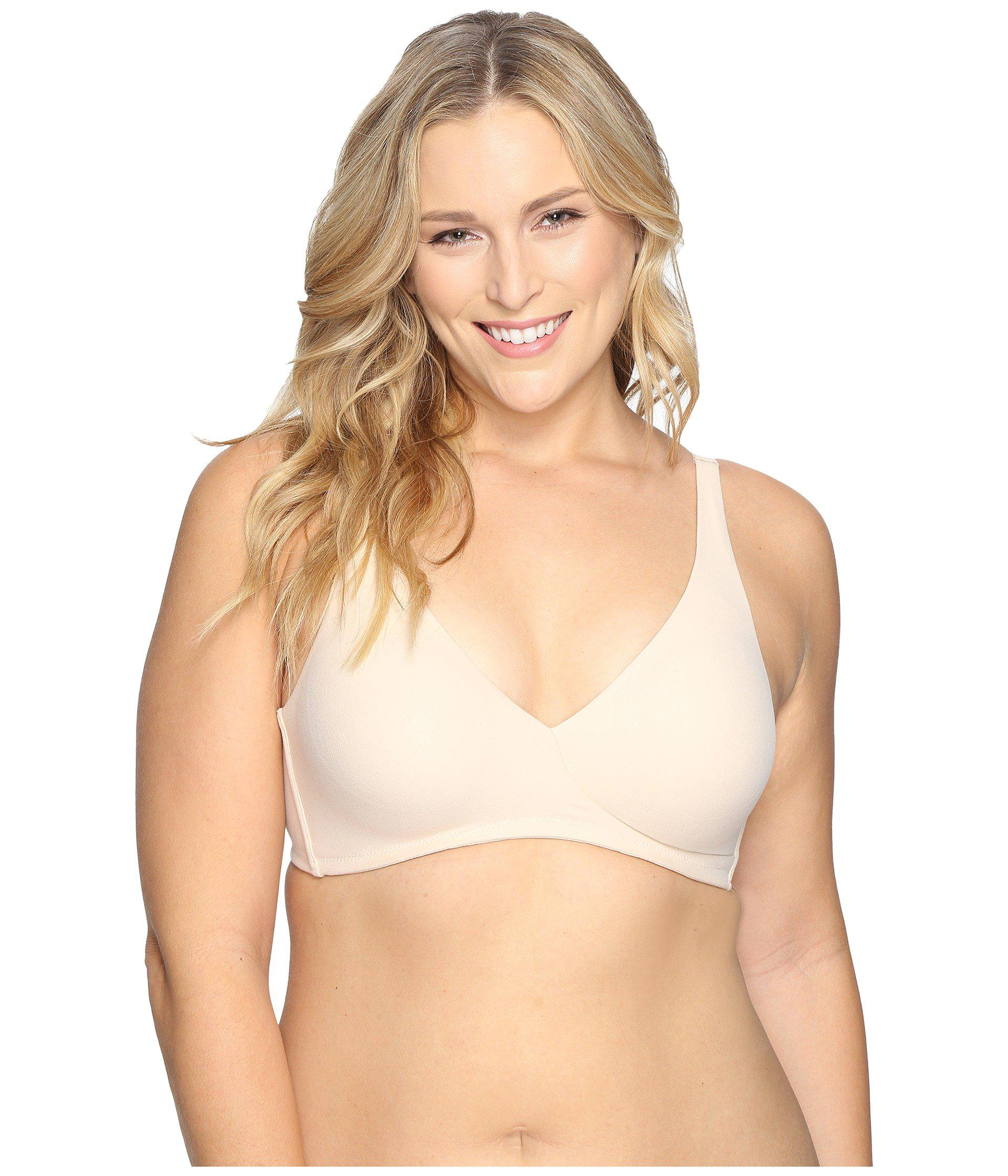 ff9818a98f Lyst - Wacoal How Perfect Full Figure Wire Free Bra 852389 (black ...