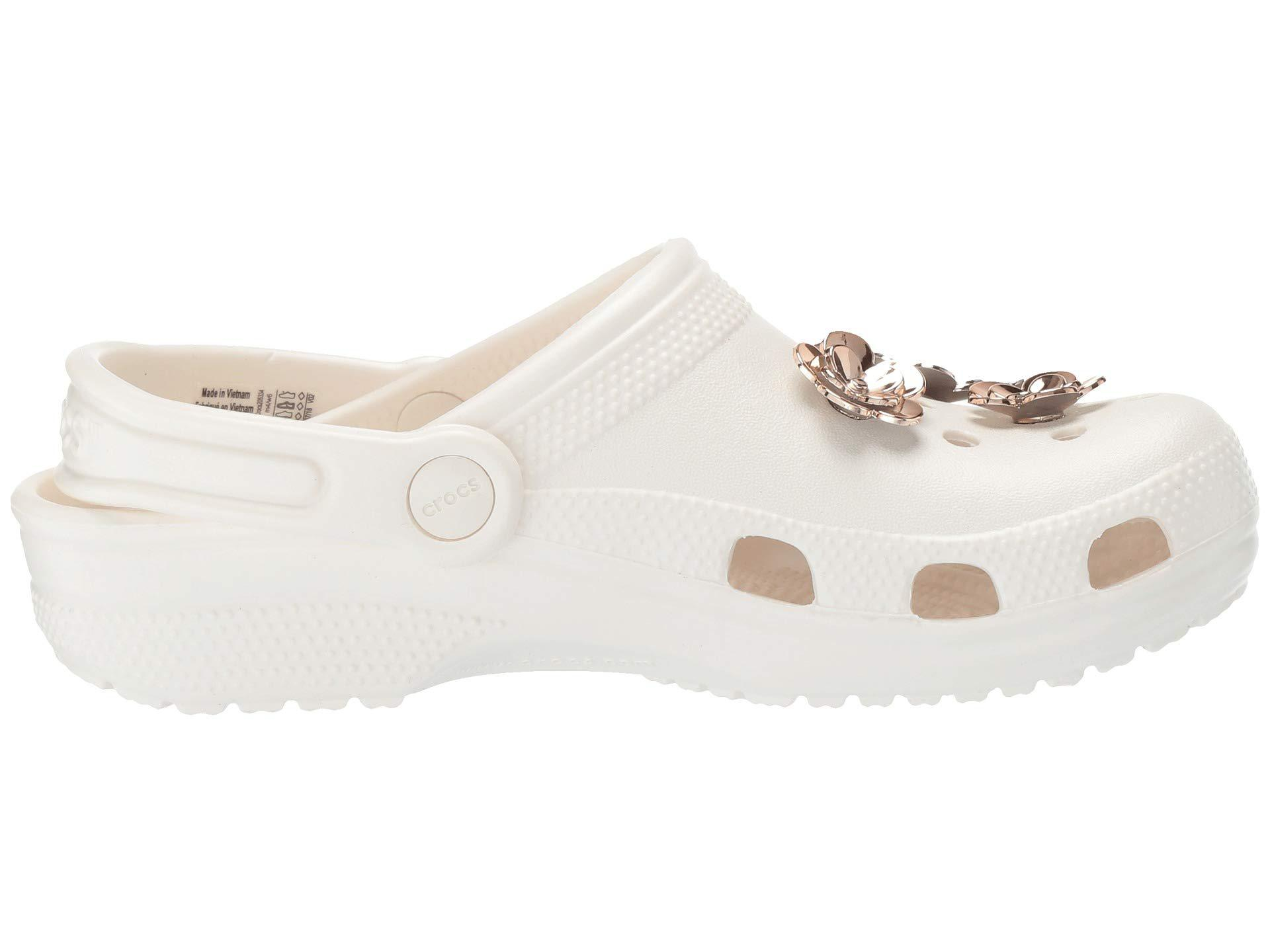Crocs Classic Radiant Clog In Pearl White Rose Gold White Lyst