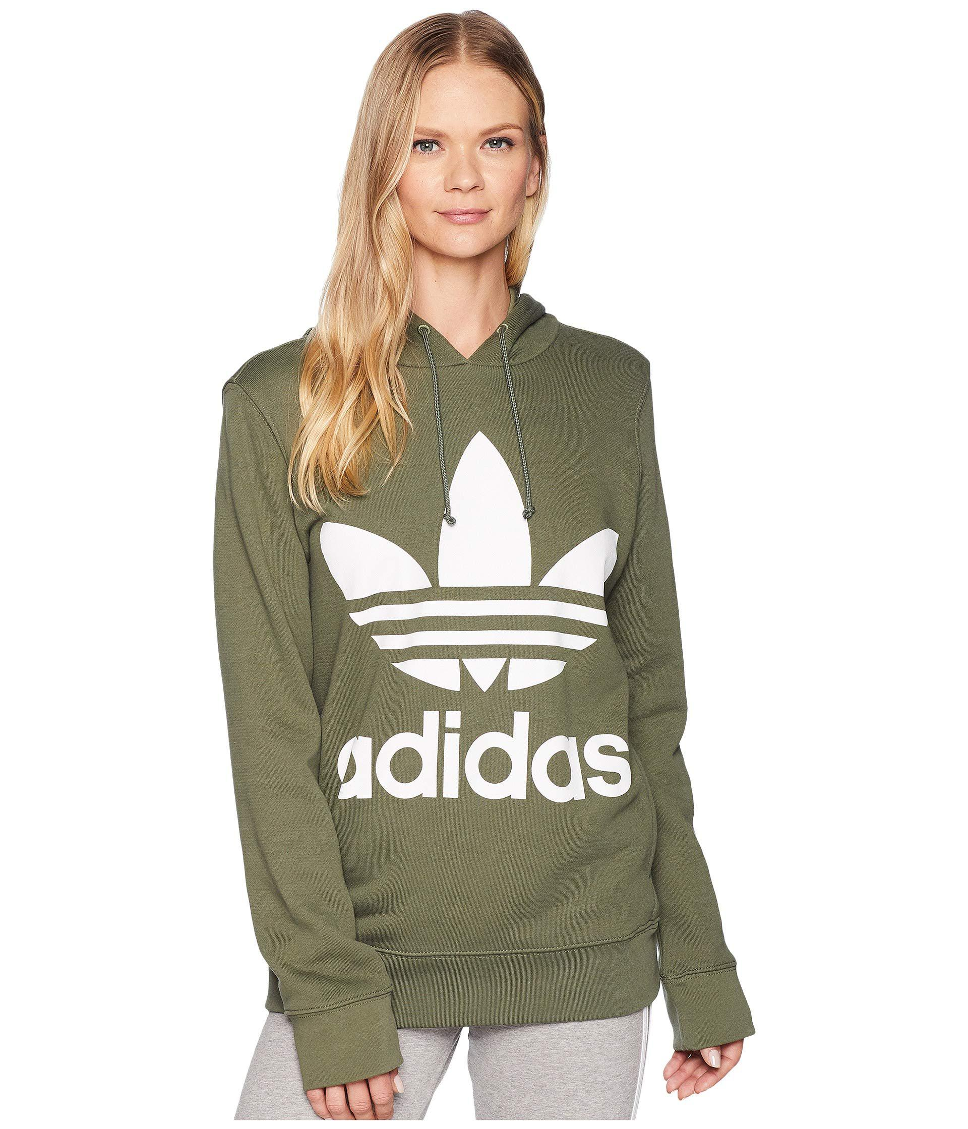Green Trefoil Hoodie (black 2) Women's Long Sleeve Pullover