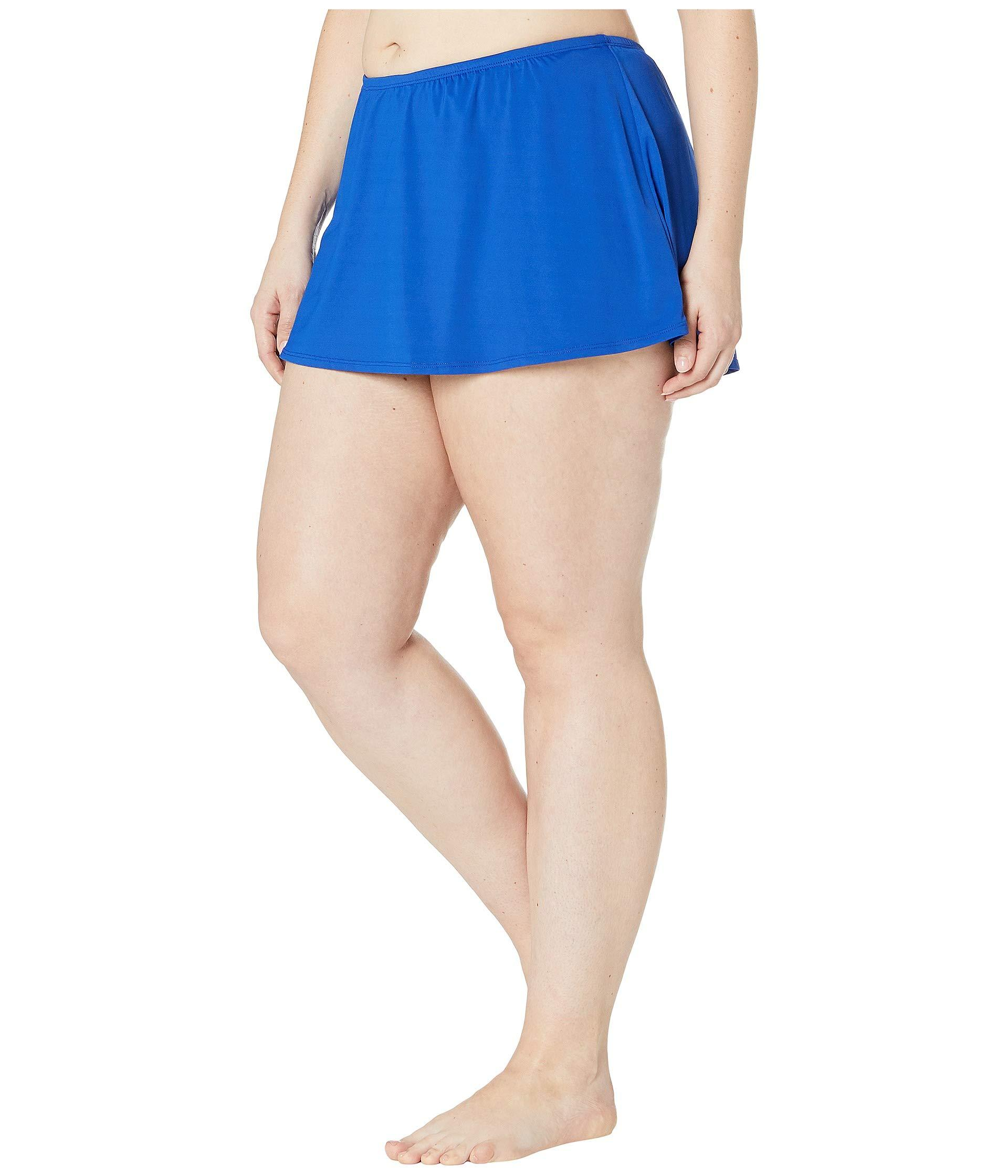 c500c22f059 Lyst - 24th   Ocean Plus Size Solids Mid Waist Skirted Pant Bottoms  (cobalt) Women s Swimwear in Blue