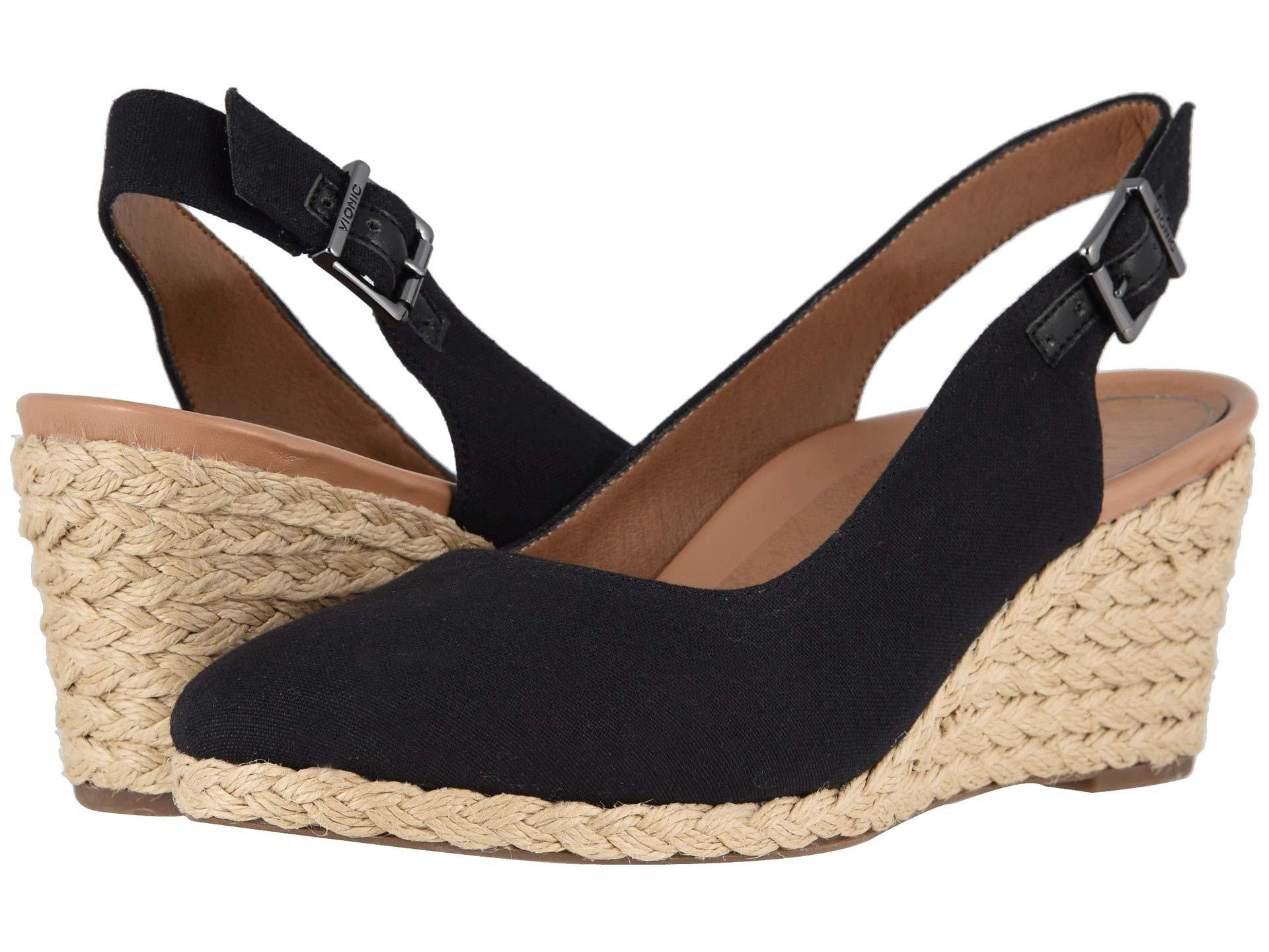 c1dfc5c04c9 Lyst - Vionic Coralina (olive) Women s Wedge Shoes in Black