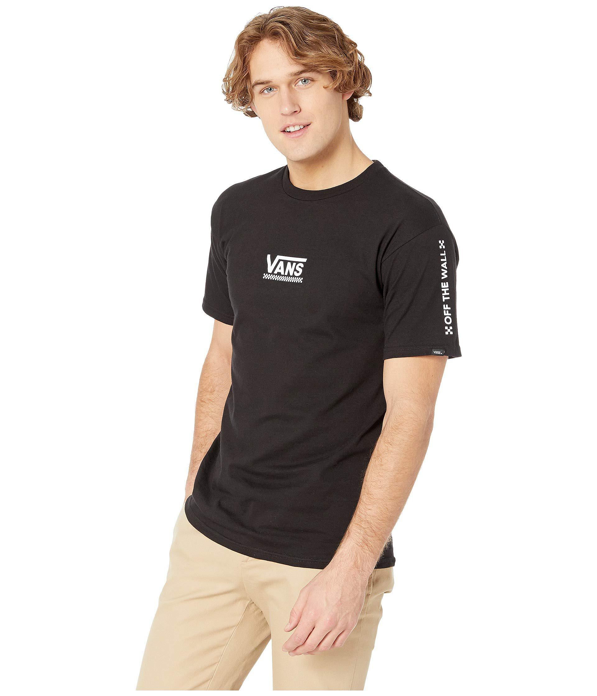 Lyst - Vans Checkmate Iii Short Sleeve T-shirt (royal) Men s Clothing in  Black for Men 0bcb69b9a