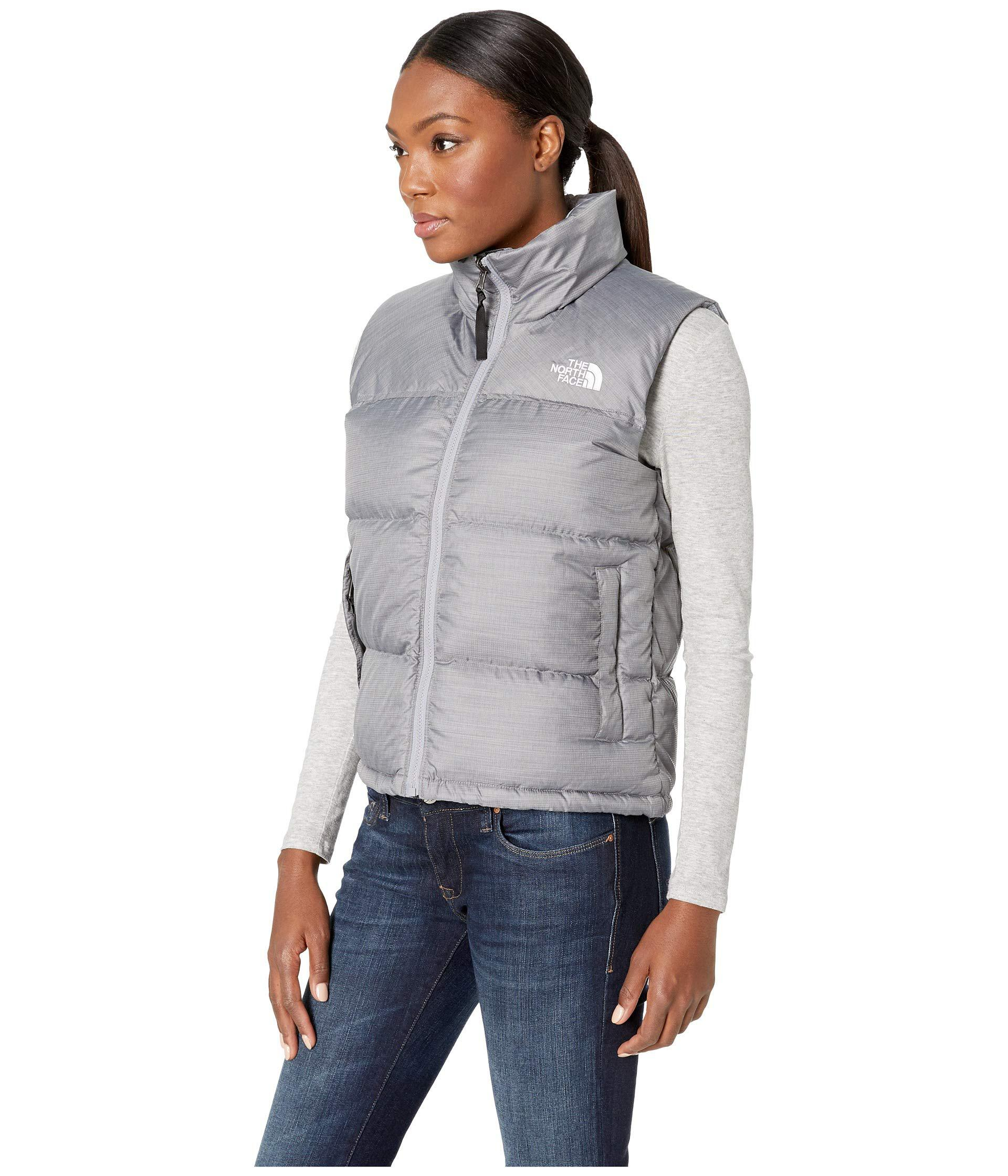 Lyst - The North Face 1996 Retro Nuptse Vest (tumbleweed Green) Women s Vest  in Gray b7f1fb832