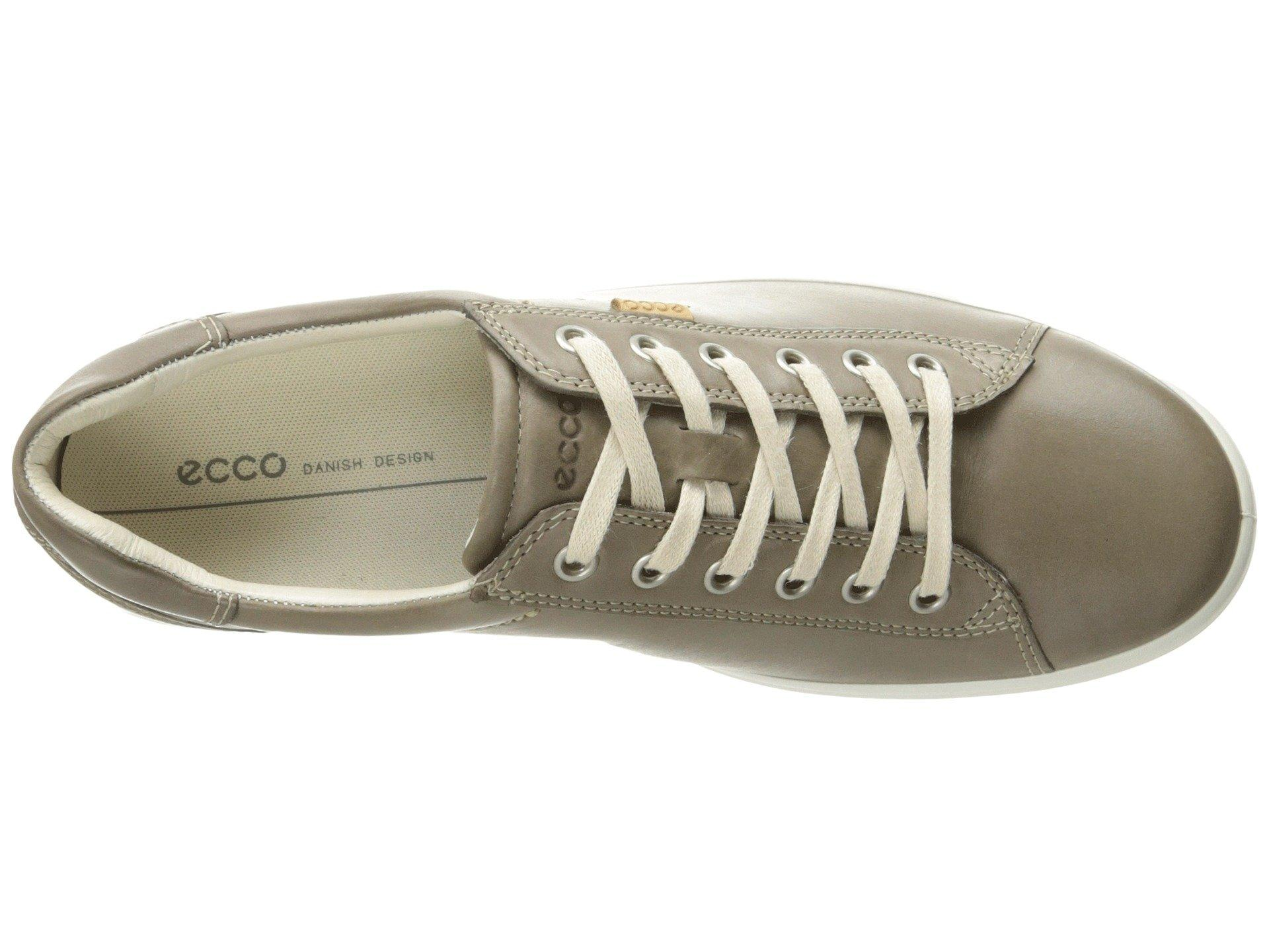2e19214c Lyst - Ecco Soft Sneaker (black Cow Leather) Women's Lace Up Casual ...
