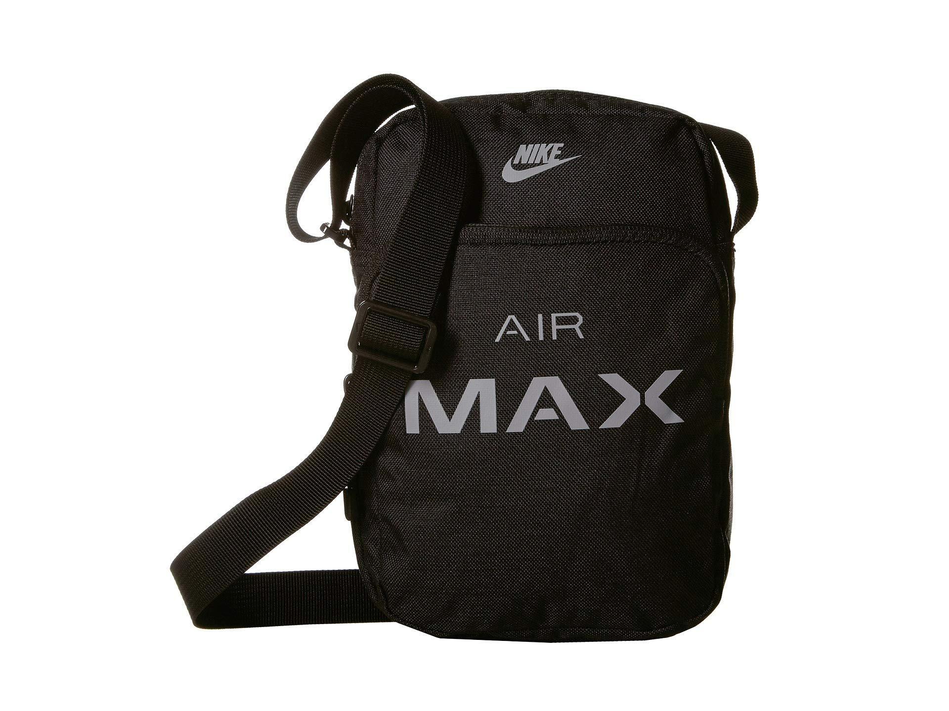 Nike Air Max Small Items Bag Light Bone Black Campfire Orange Cross Body Handbags