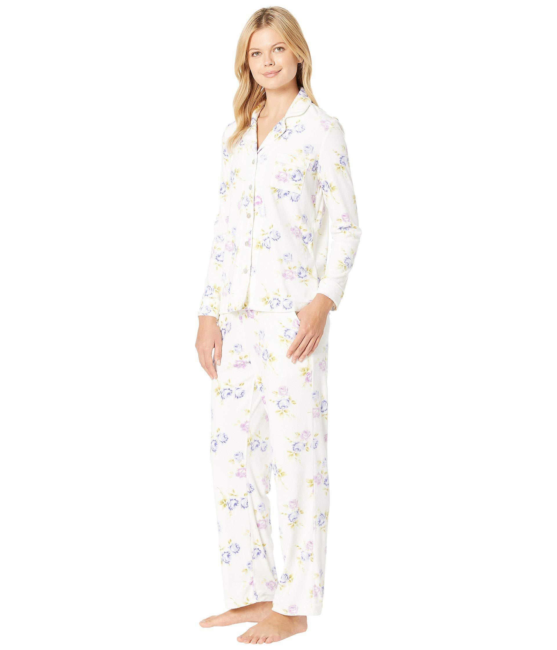 Lyst Carole Hochman Luxe Cozy Fleece Pajama Set Sapphire Dot