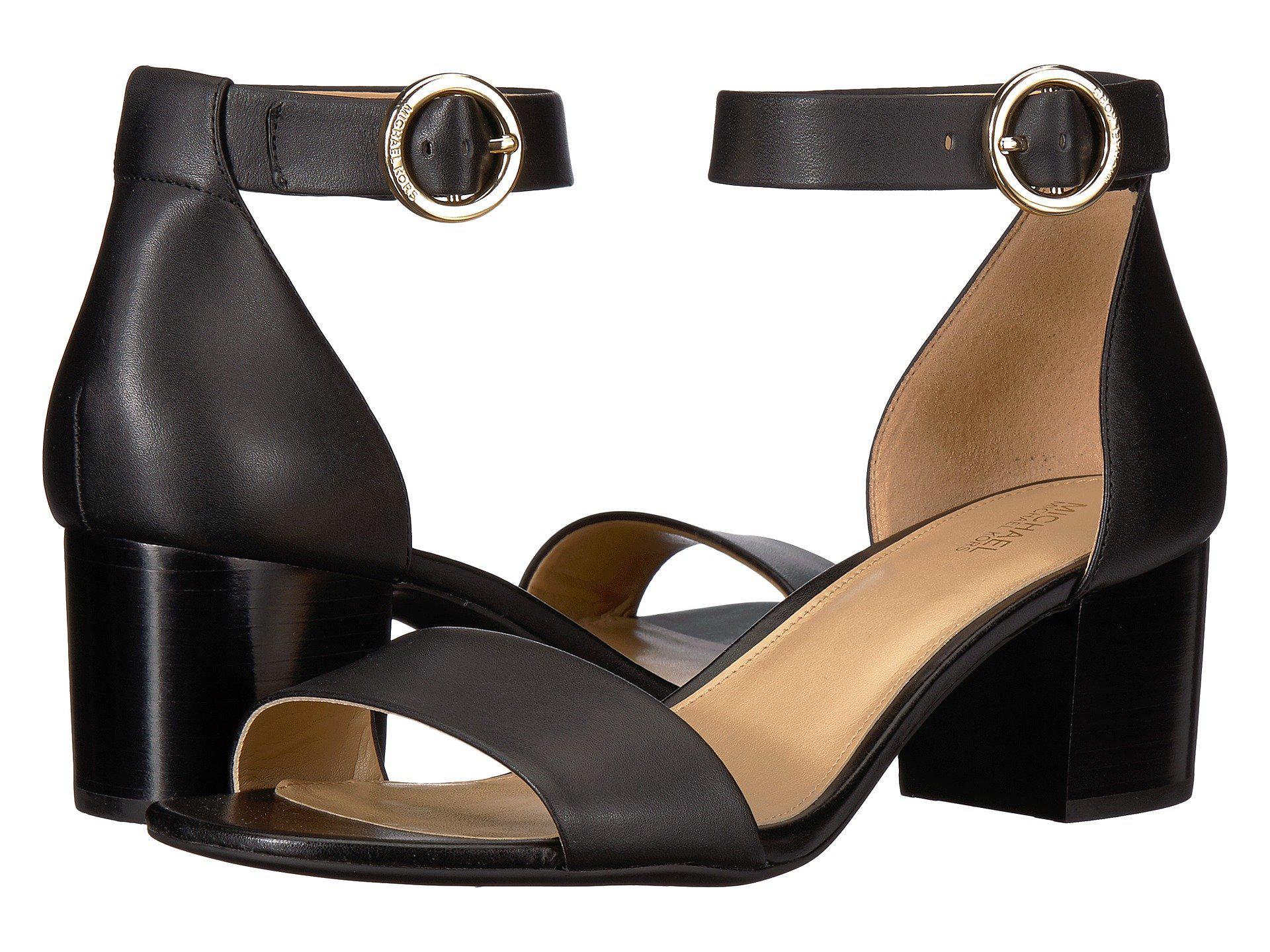 e235e3a8e70 MICHAEL Michael Kors. Women s Lena Flex Mid (black Vachetta stacked Heel)  High Heels