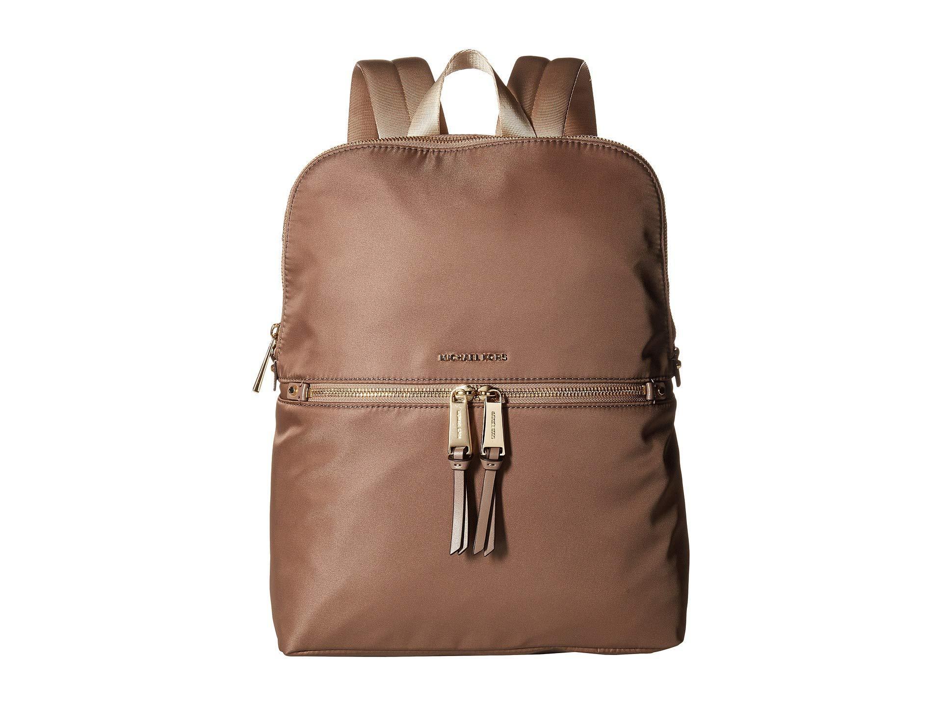 8f4abef6762a Lyst - MICHAEL Michael Kors Polly Medium Slim Zip Backpack (dune ...