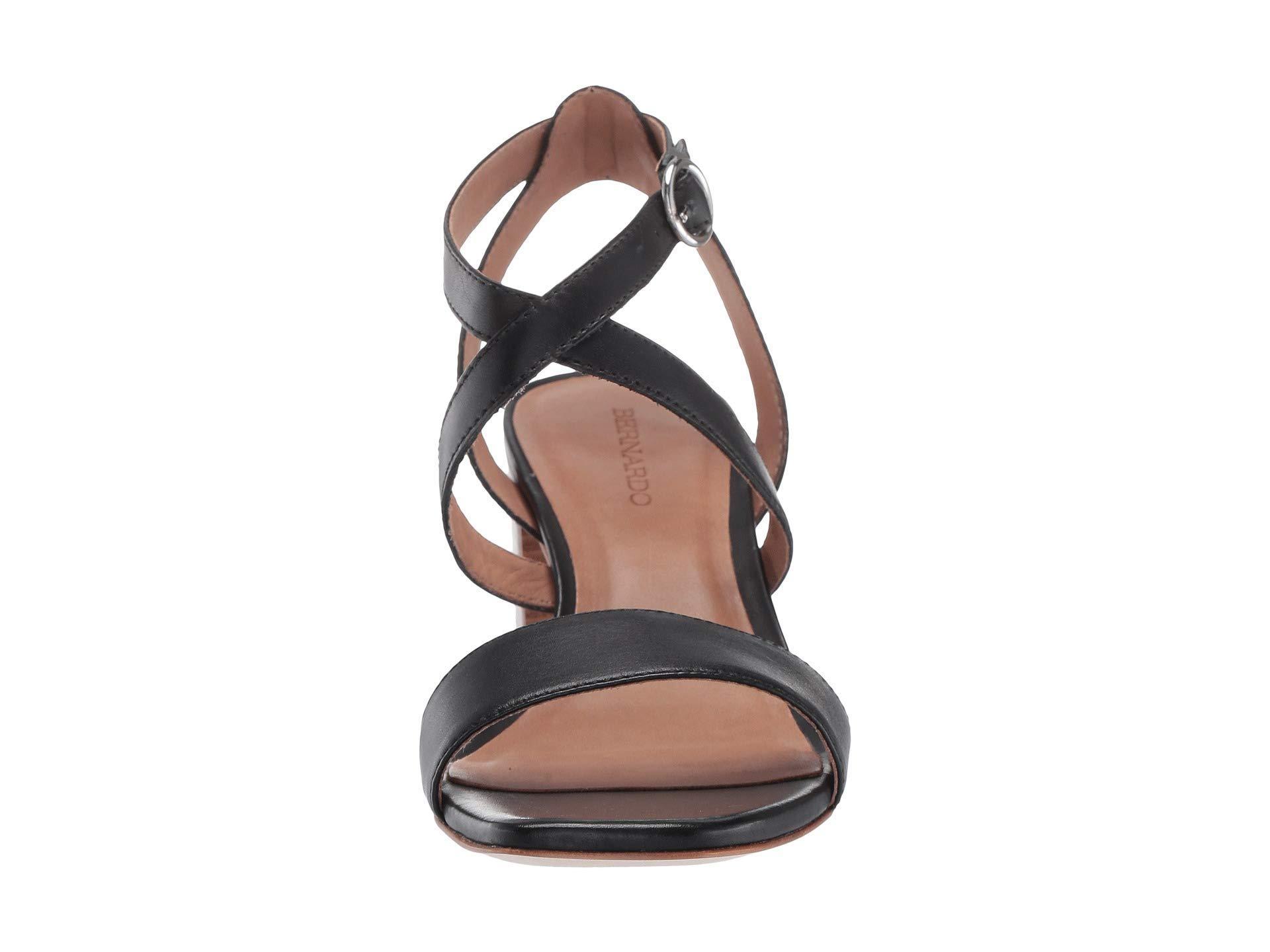08a31ca2156 Bernardo - Brielle Heeled Sandal (black Antique Calf) Women s Sandals -  Lyst. View fullscreen