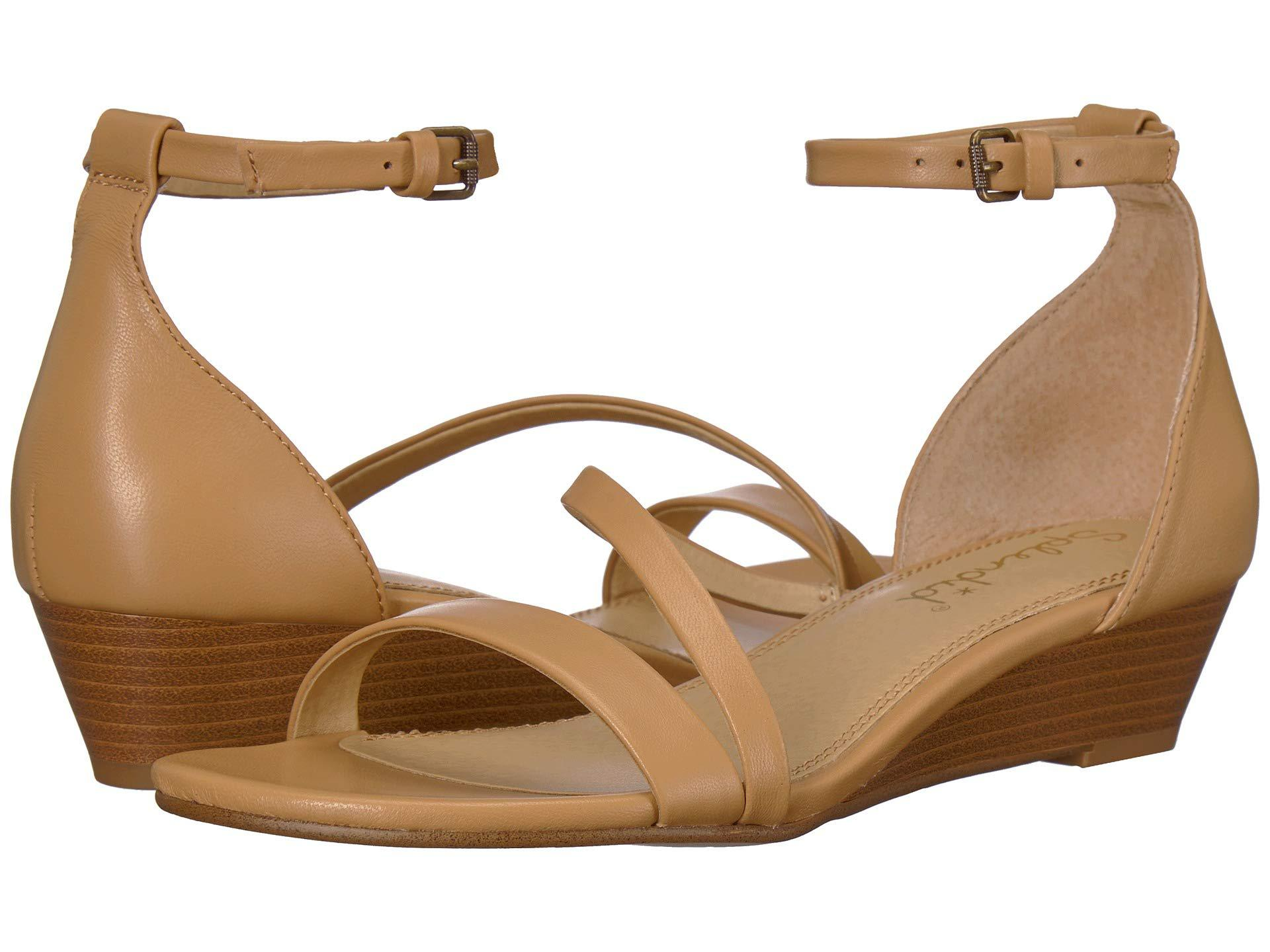05a509dd658d Lyst - Splendid Stefano (black Leather) Women s Wedge Shoes in Natural