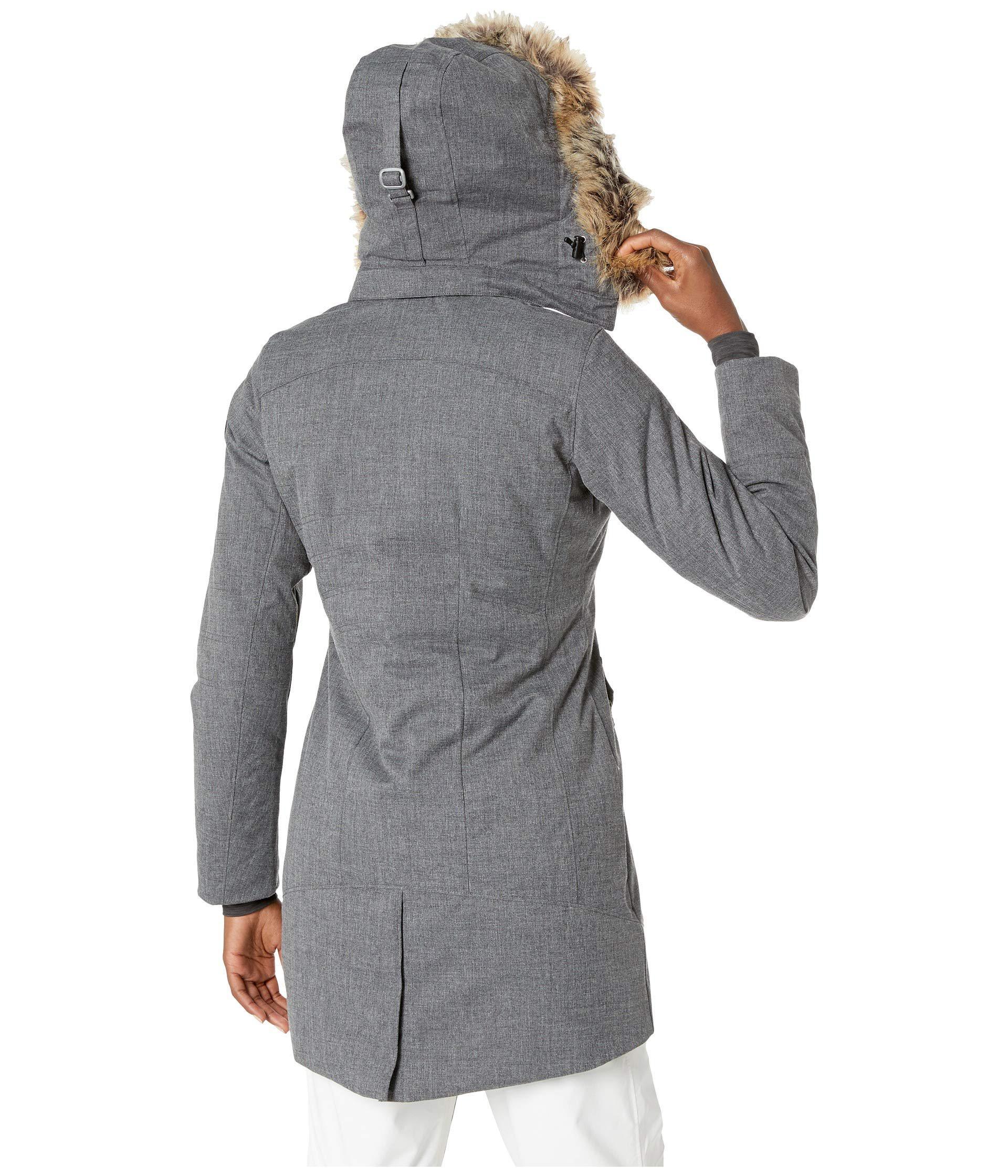 608242ff0b Obermeyer - Gray Sojourner Down Jacket (major Red) Women s Coat - Lyst.  View fullscreen