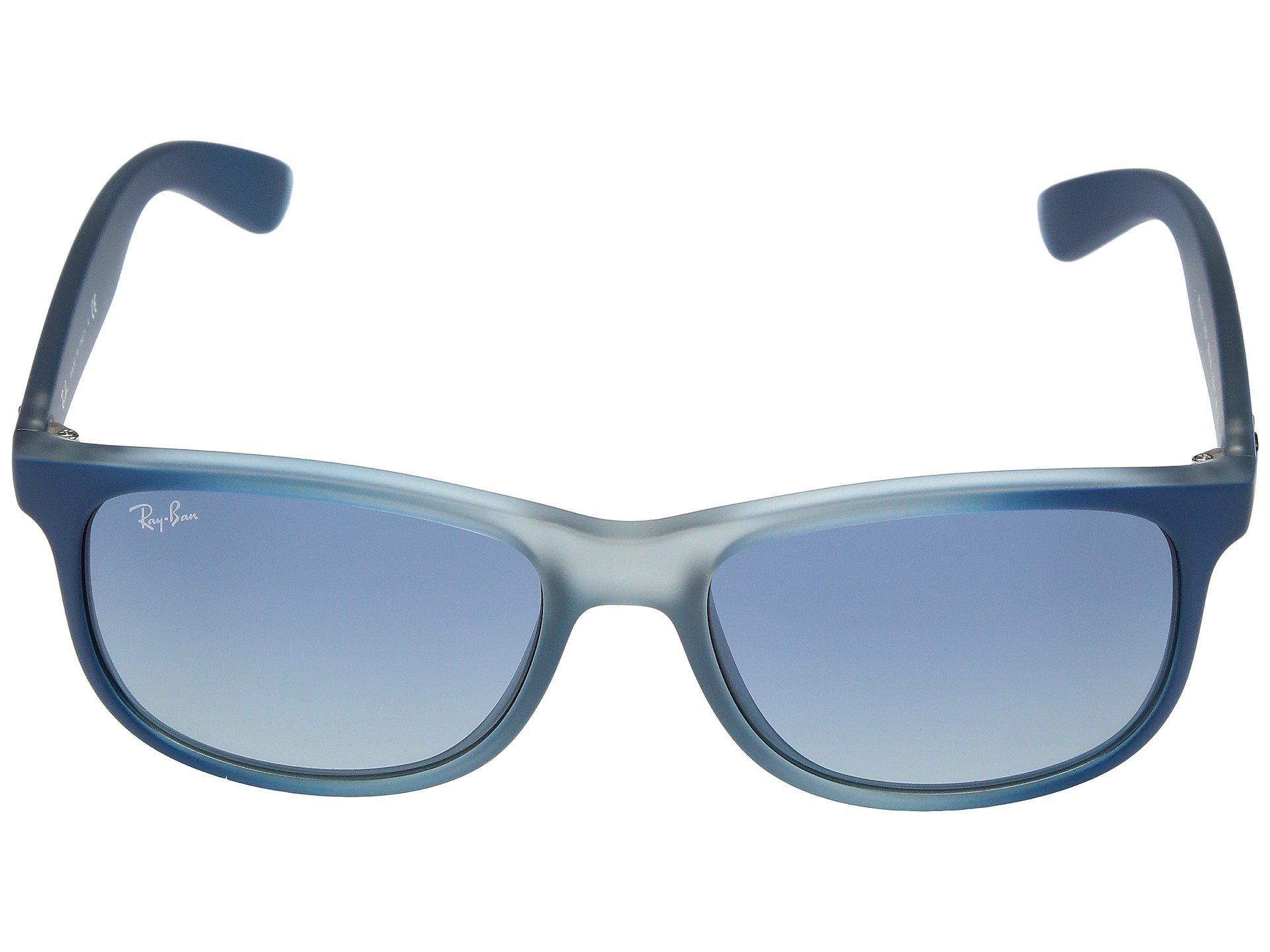 21f2755a7b Ray-Ban - Rb4202 Andy 55mm (blue-rubber Light Grey Translucent grey. View  fullscreen