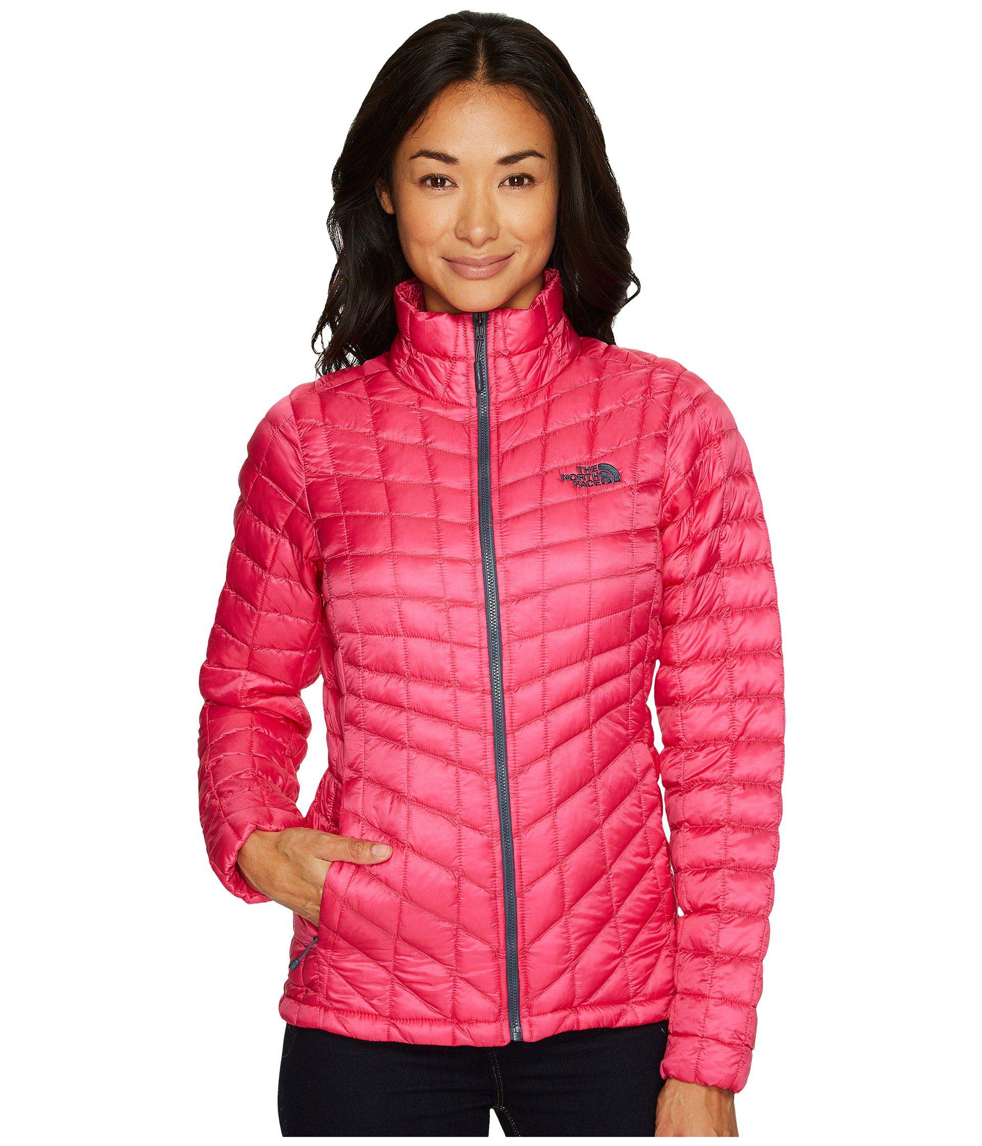 5c4cd0548 The North Face Pink Thermoball Full Zip Jacket (tnf Black) Women's Coat