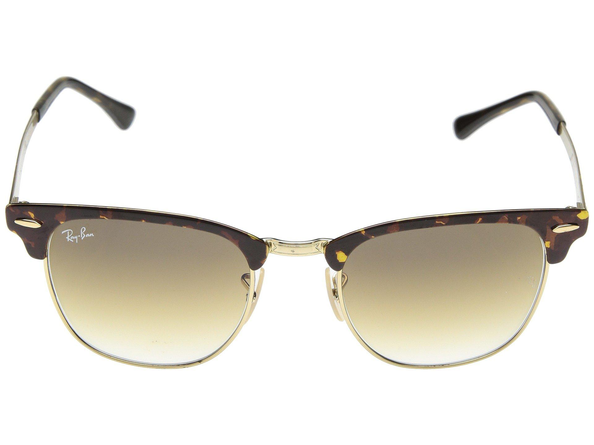 86fb17d062 Ray-Ban - Multicolor Metal Clubmaster Rb3716 51mm (silver On White clear  Gradient. View fullscreen