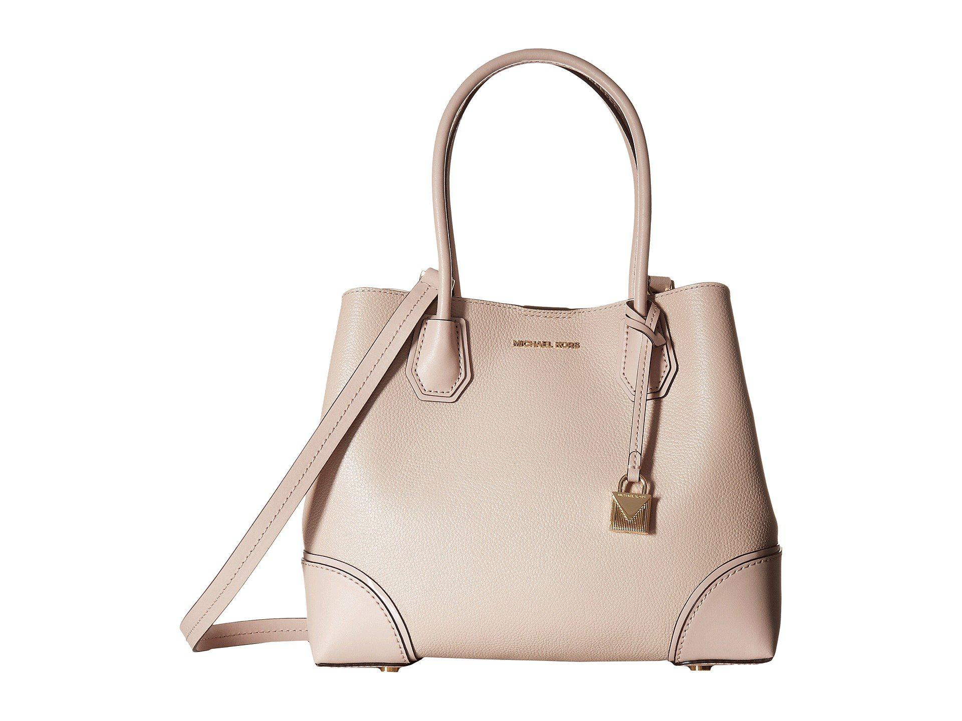8035ad19ee9e45 MICHAEL Michael Kors - Mercer Gallery Medium Center Zip Tote (soft Pink) Tote  Handbags. View fullscreen