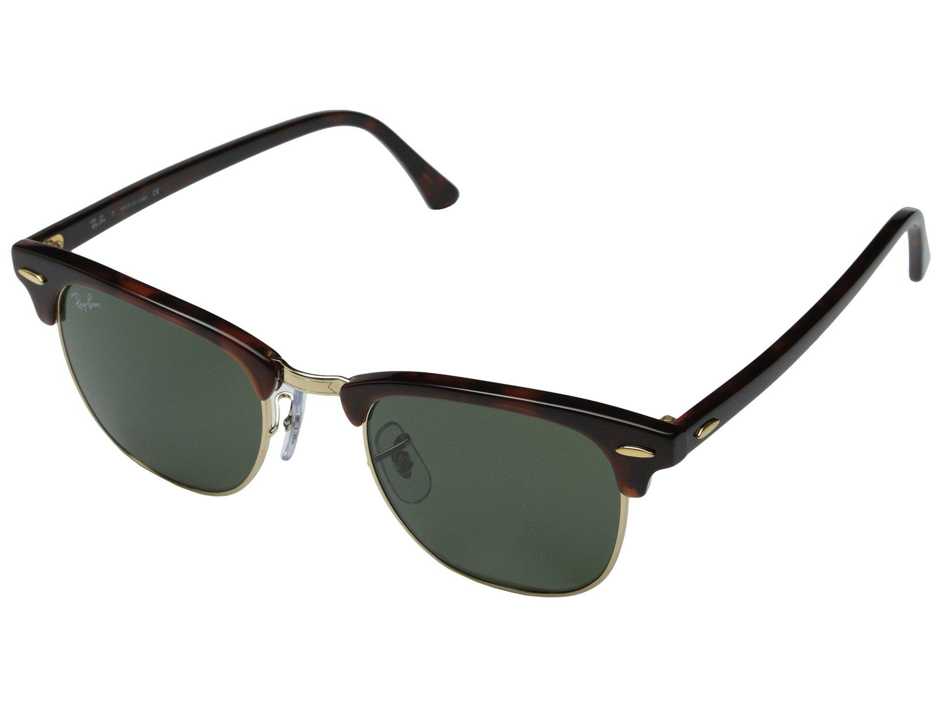 Lyst - Ray-Ban Rb3016 Clubmaster 49mm in Green