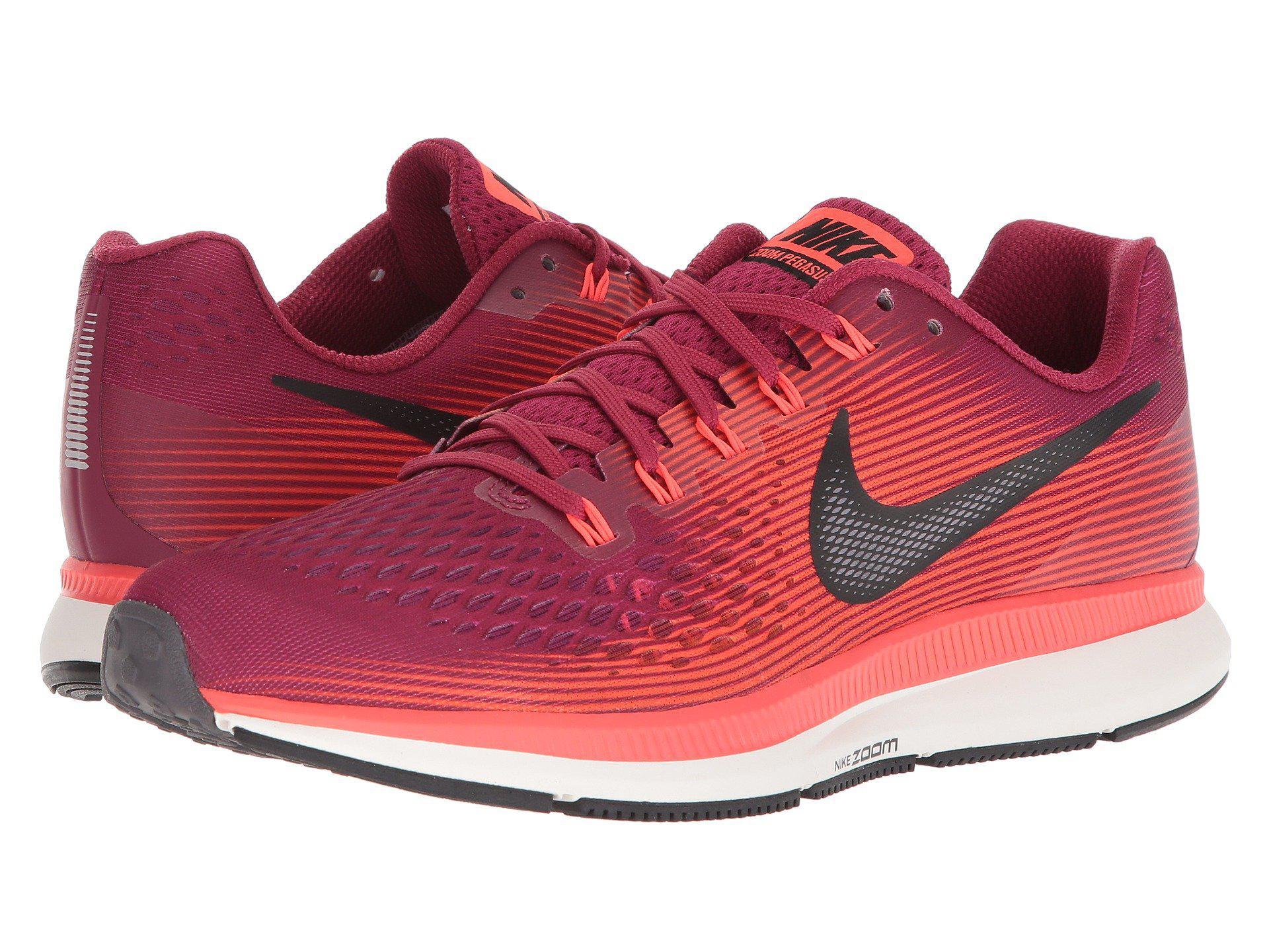 Nike. Men's Red Air Zoom Pegasus 34