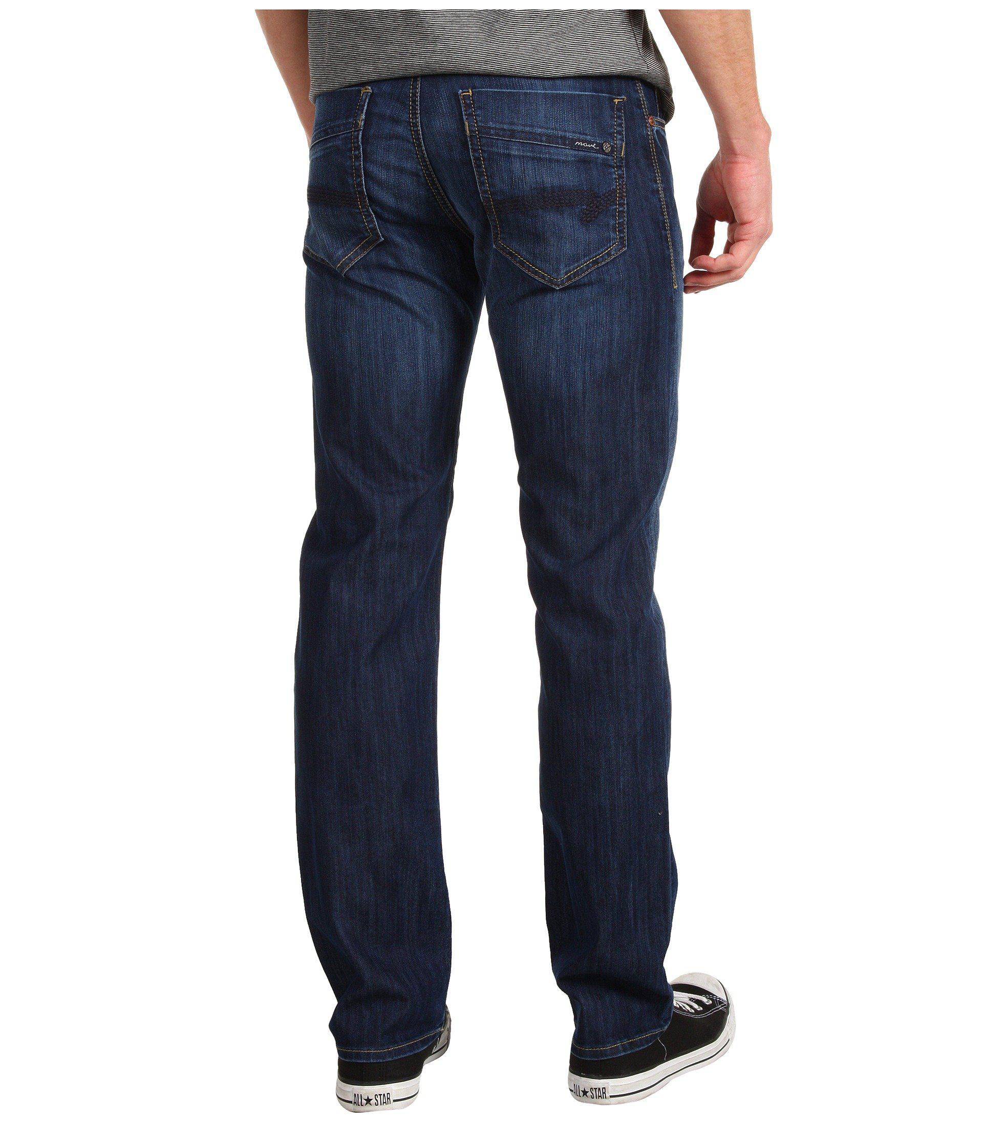 603d6892c4bdc Lyst - Mavi Jeans Zach Regular Rise Straight Leg In Dark Maui (dark ...