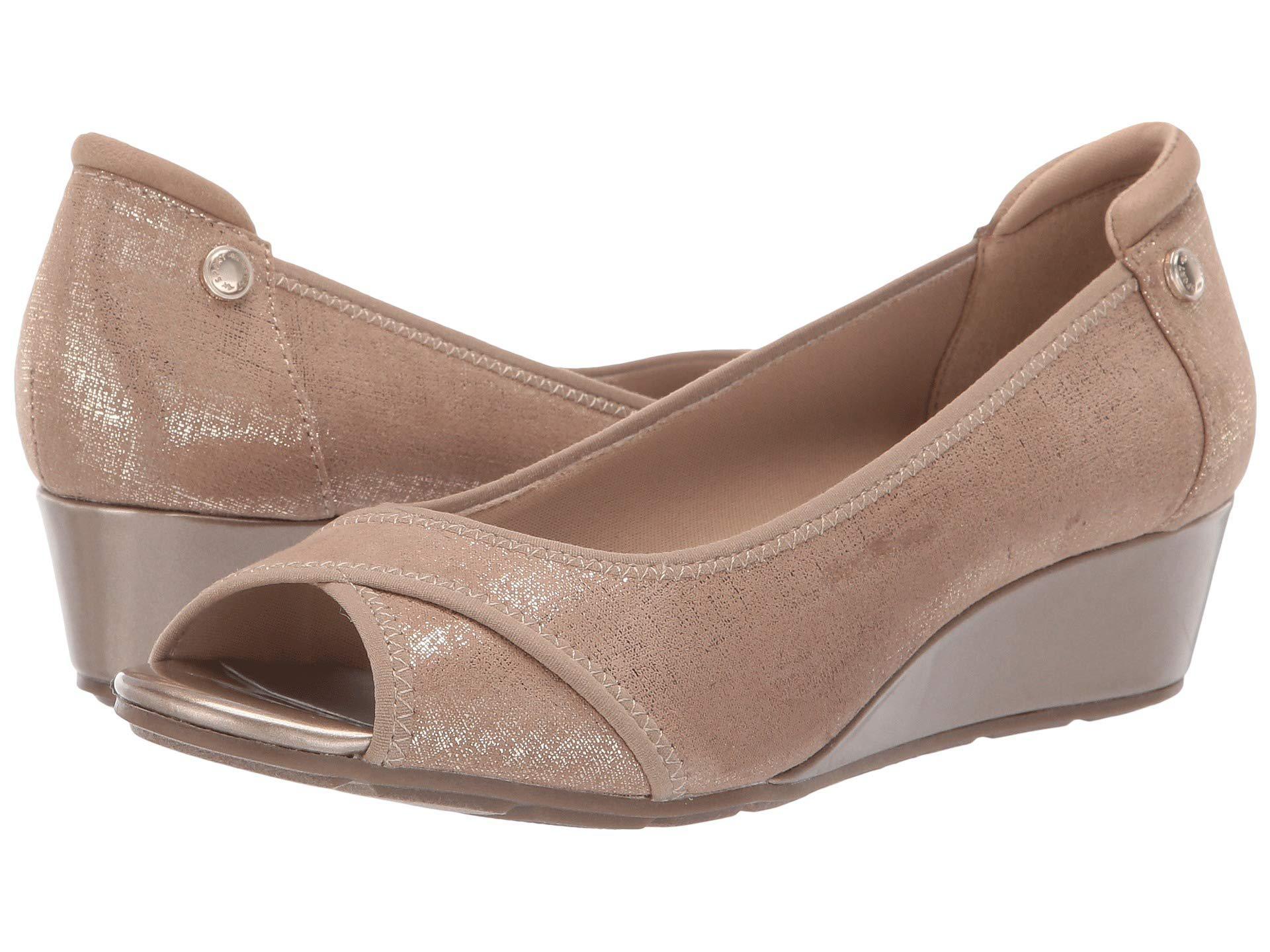 a44e7ffc4cec6 Anne Klein Sport Corner Wedge Heel (black) Women's Wedge Shoes - Lyst