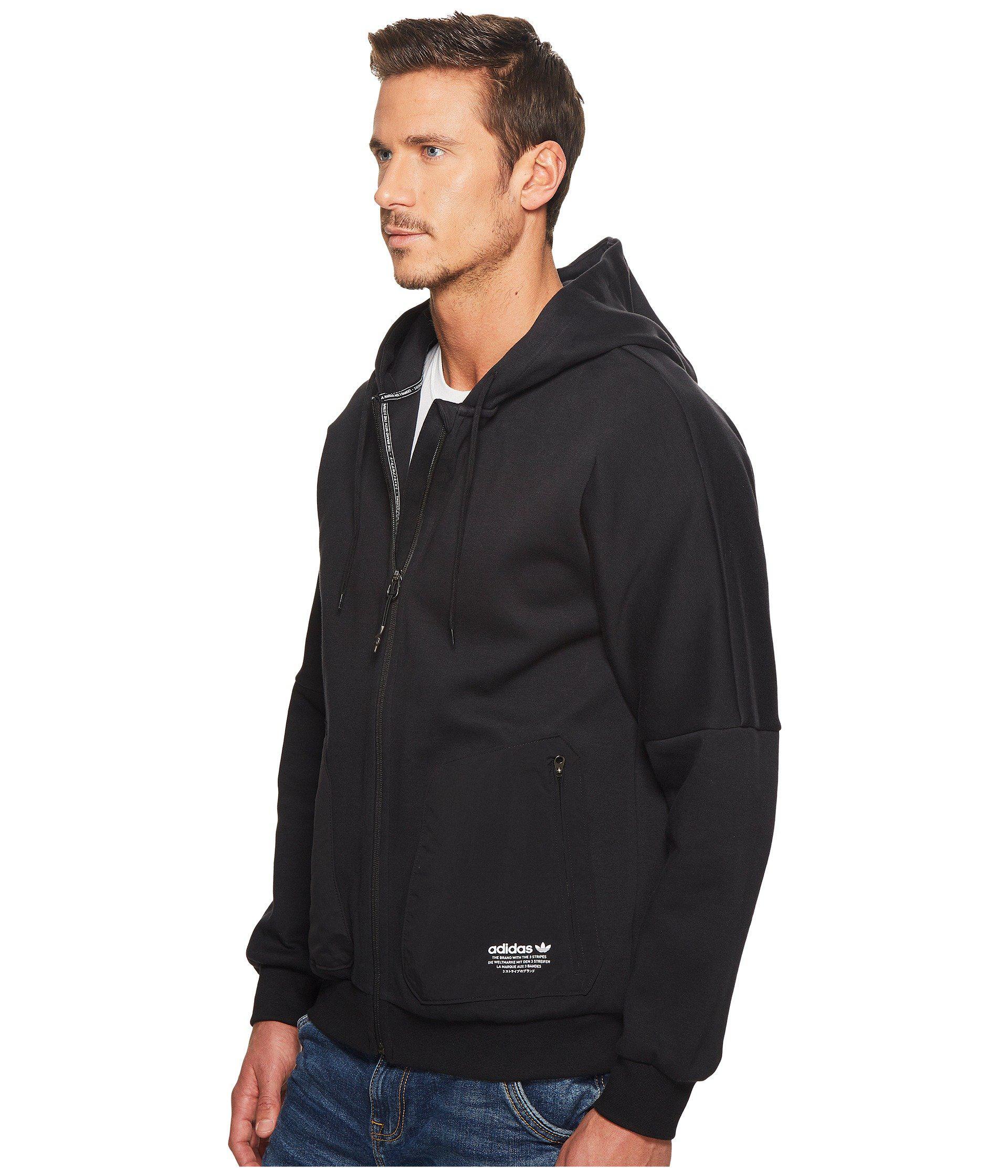 Adidas Originals Black Nmd Fz Hoodie for men