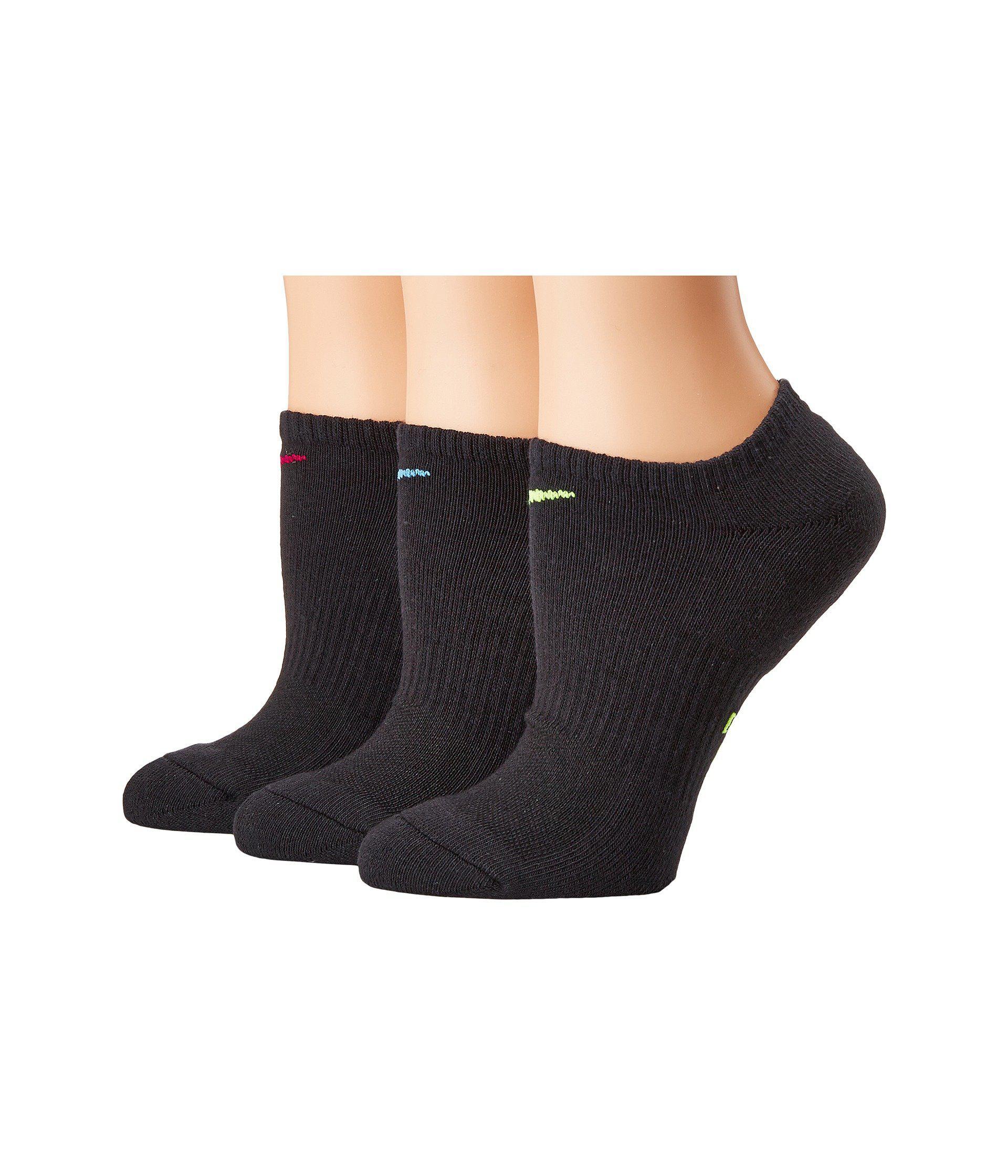 f3270759ea2cdf Nike. Black Performance Cushioned Mesh No Show Training Socks 3-pair Pack  ...