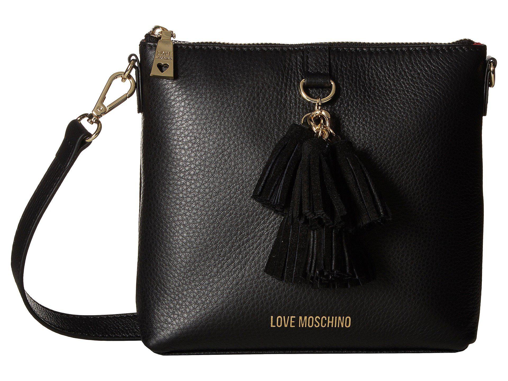 377affeb1543 Love Moschino. Women s Leather Crossbody Bag With Tassel (black) Handbags