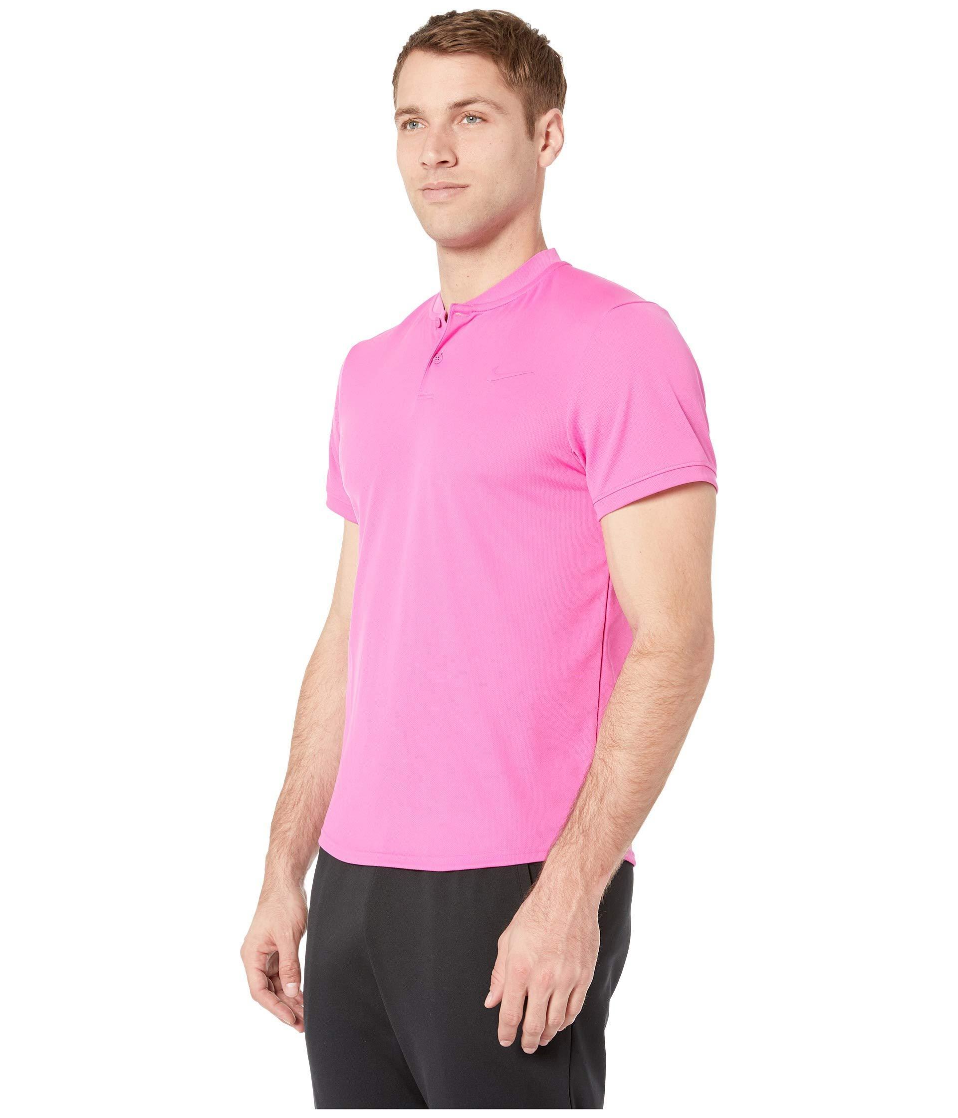 6fb97209 Lyst - Nike Court Dry Polo Blade (black/white) Men's Clothing in Purple for  Men