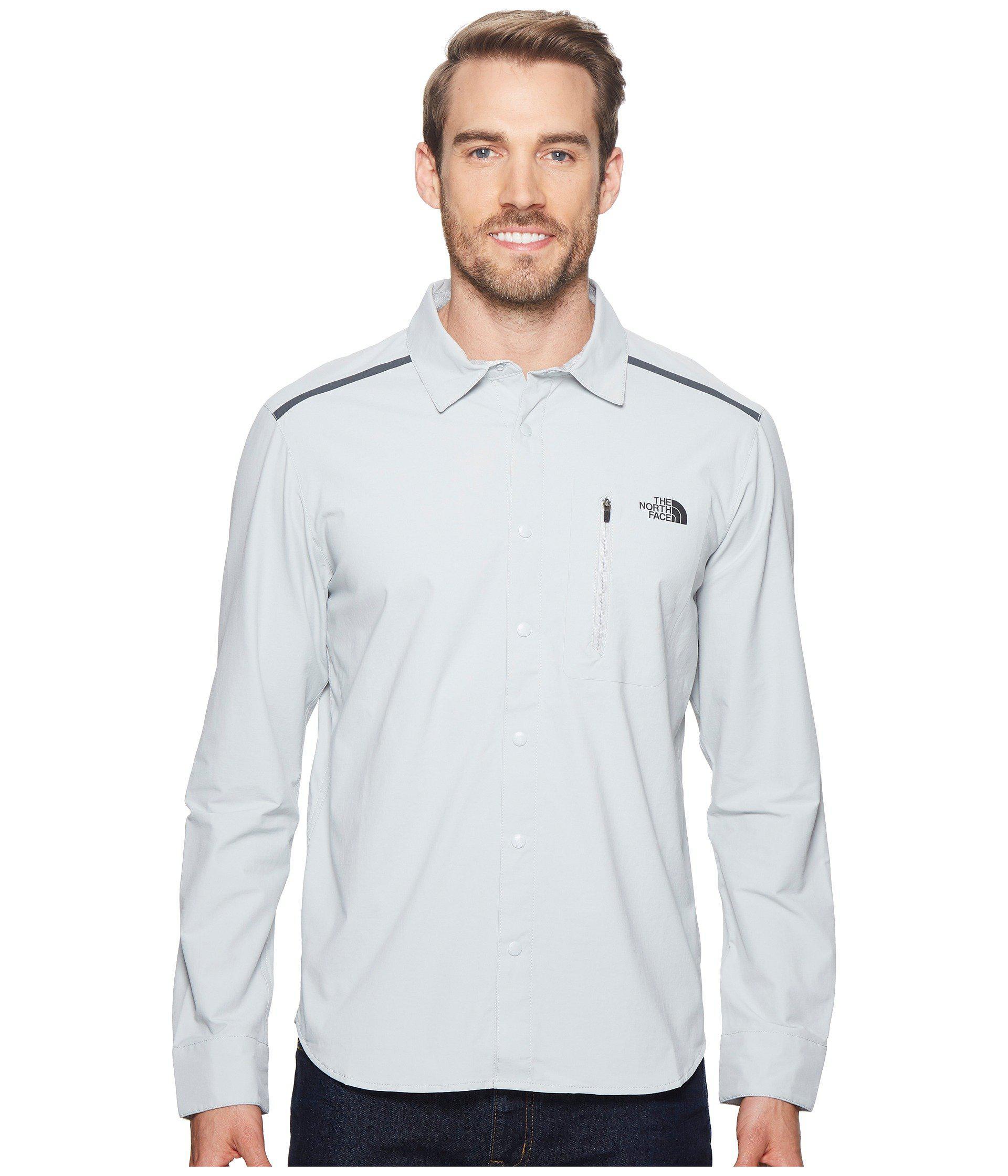 0cd6b086b The North Face Gray Alpenbro Long Sleeve Woven Shirt for men
