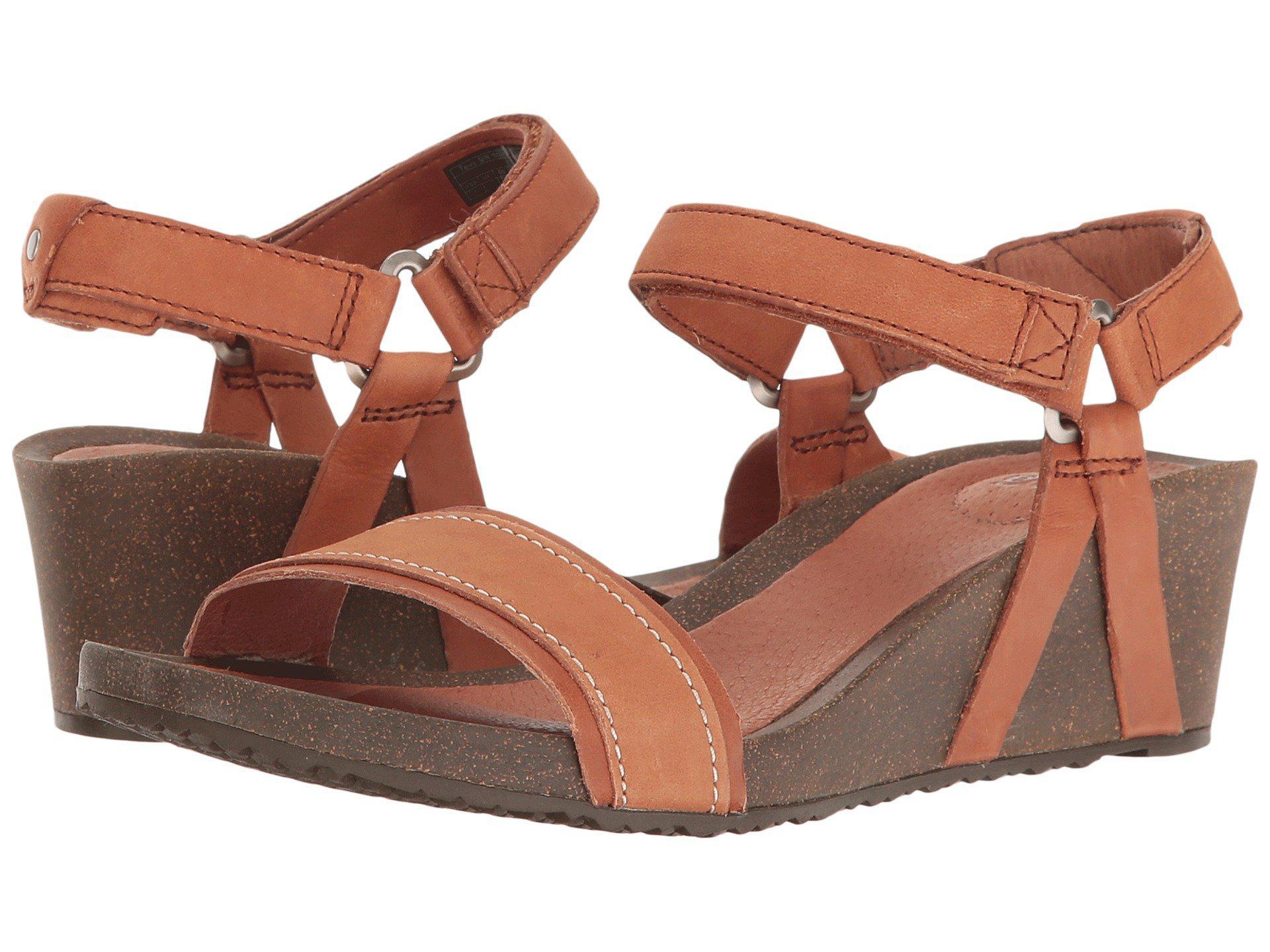 3cedaa25624 Lyst - Teva Ysidro Stitch Wedge Sandals in Brown
