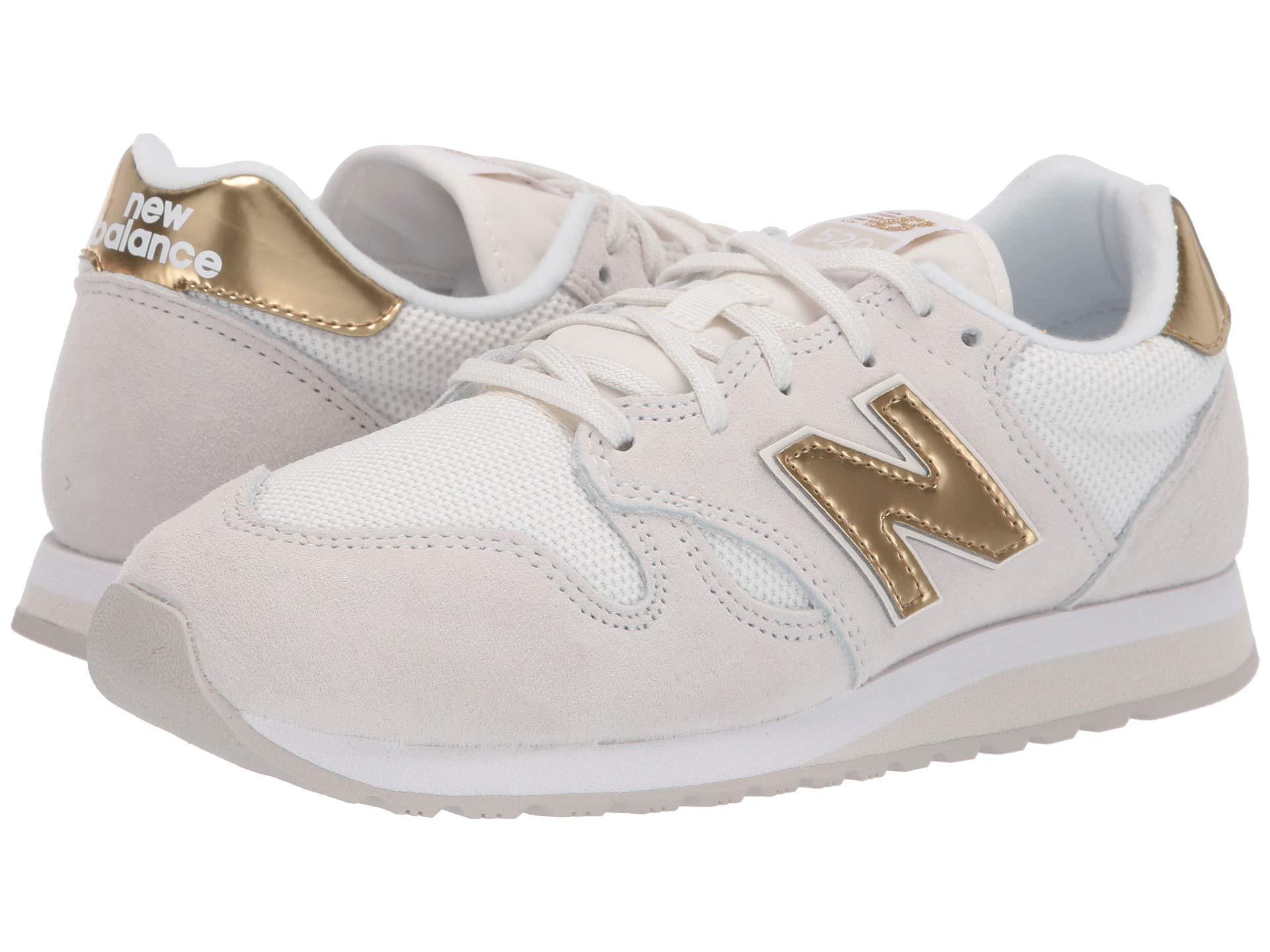 New Balance Suede 5201-usa (sea Salt/classic Gold) Women's Shoes ...