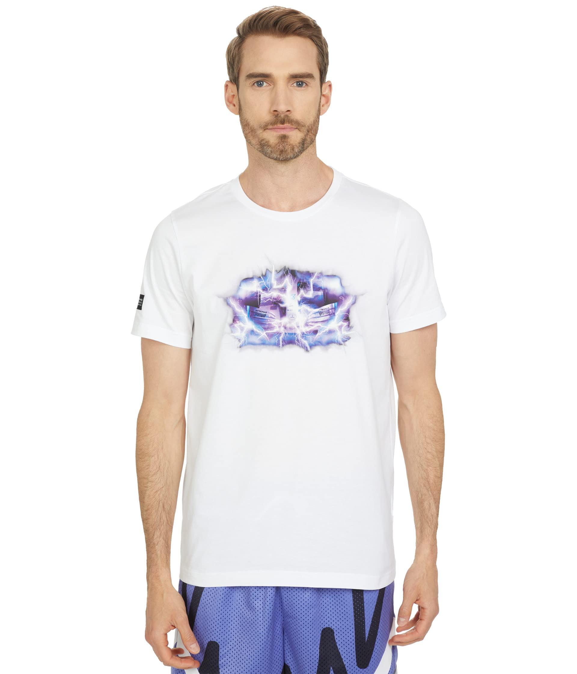 PUMA Cotton Mapf1 Street Vintage Tee in White for Men - Lyst