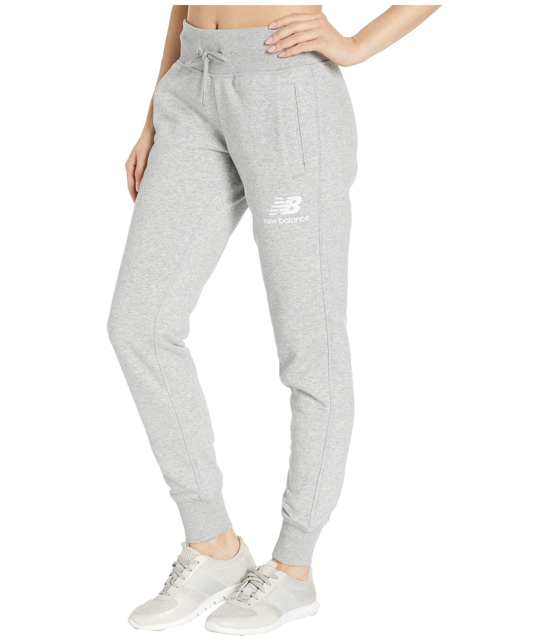 a48978d51768c New Balance - Gray Essentials French Terry Sweatpants - Lyst. View  fullscreen